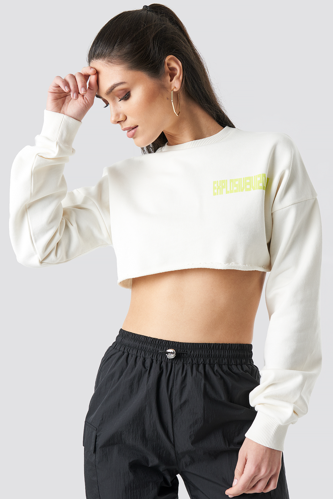 Explosive Raw Cropped Sweater NA-KDLOUNGE.DE