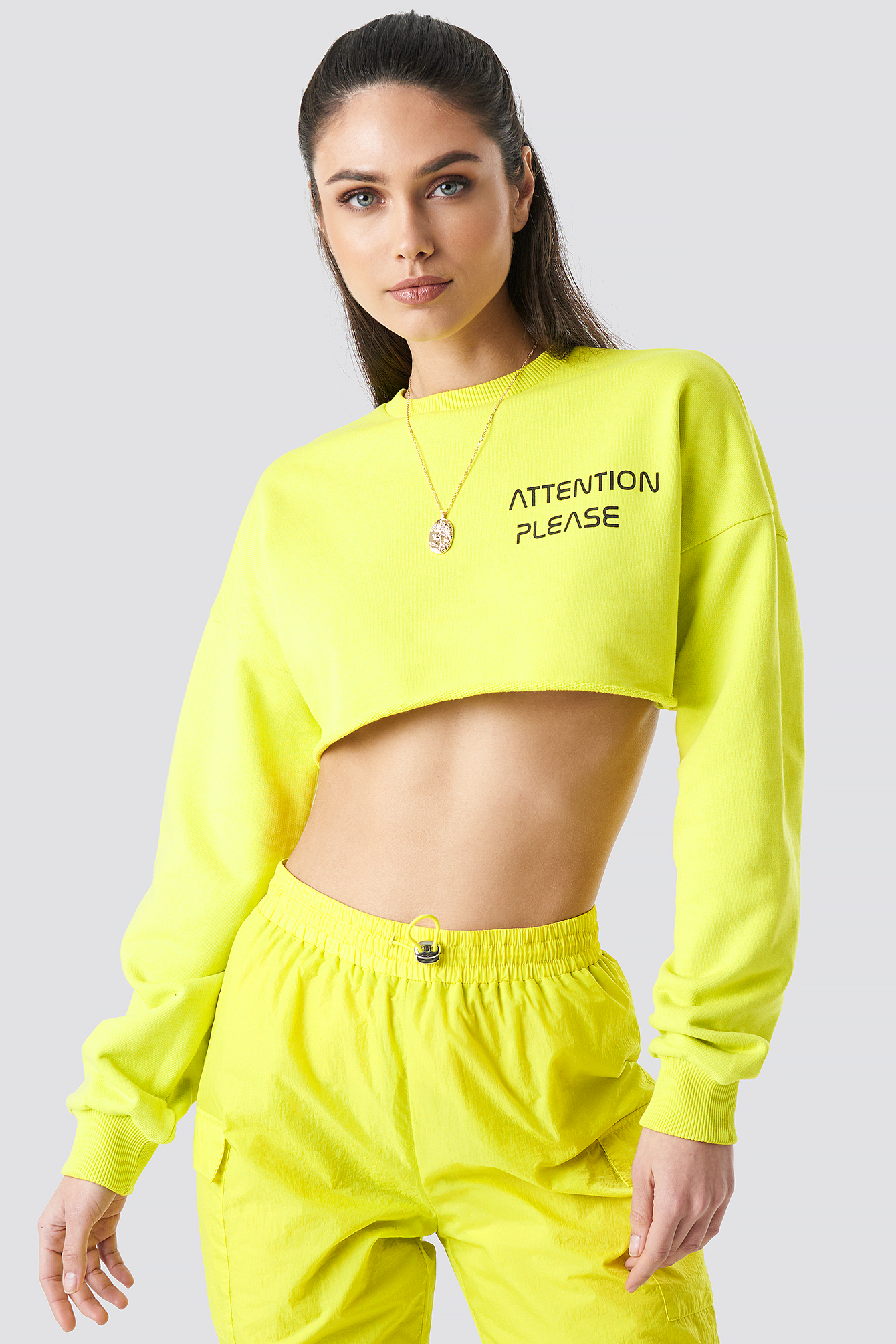 Attention Please Raw Cropped Sweater NA-KDLOUNGE.DE