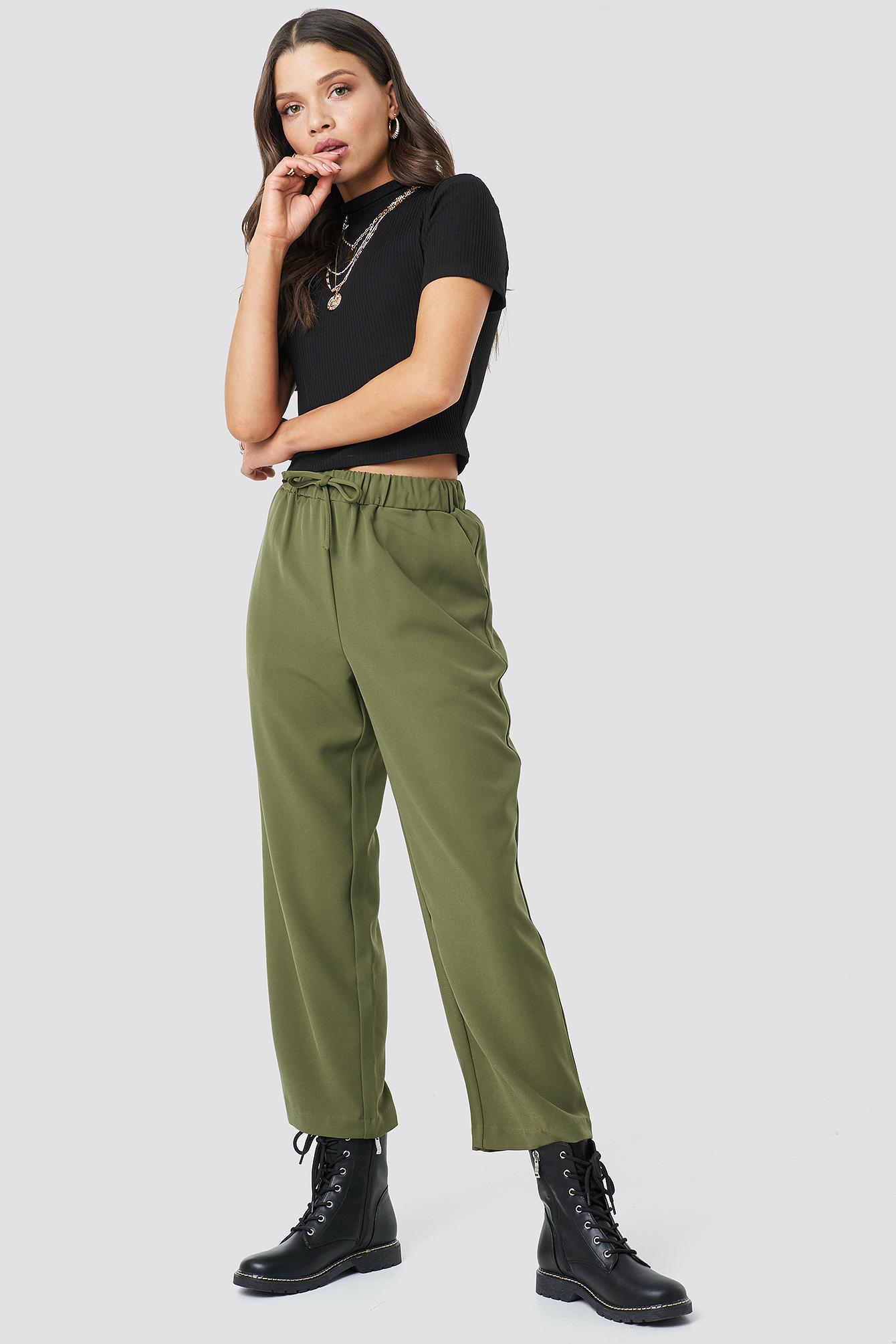 Drawstring Suit Pants NA-KDLOUNGE.DE