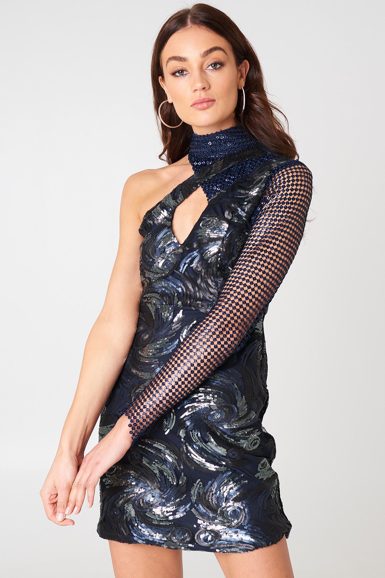 One Shoulder Sequin Dress NA-KDLOUNGE.DE