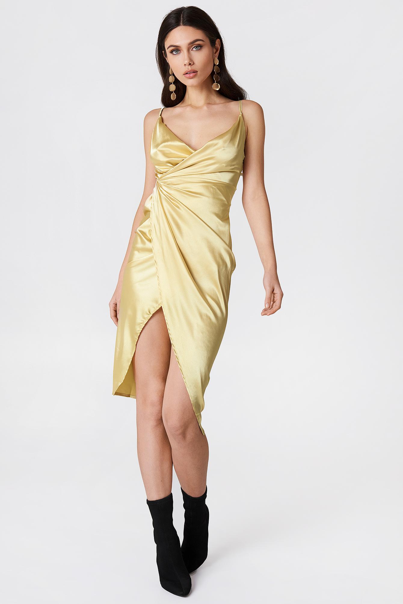 Satin Strappy Dress NA-KDLOUNGE.DE