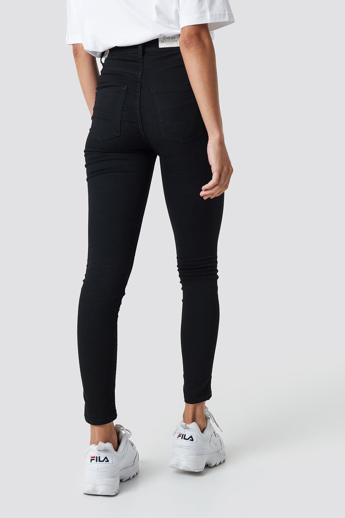 High Spray Black Jeans NA-KDLOUNGE.DE