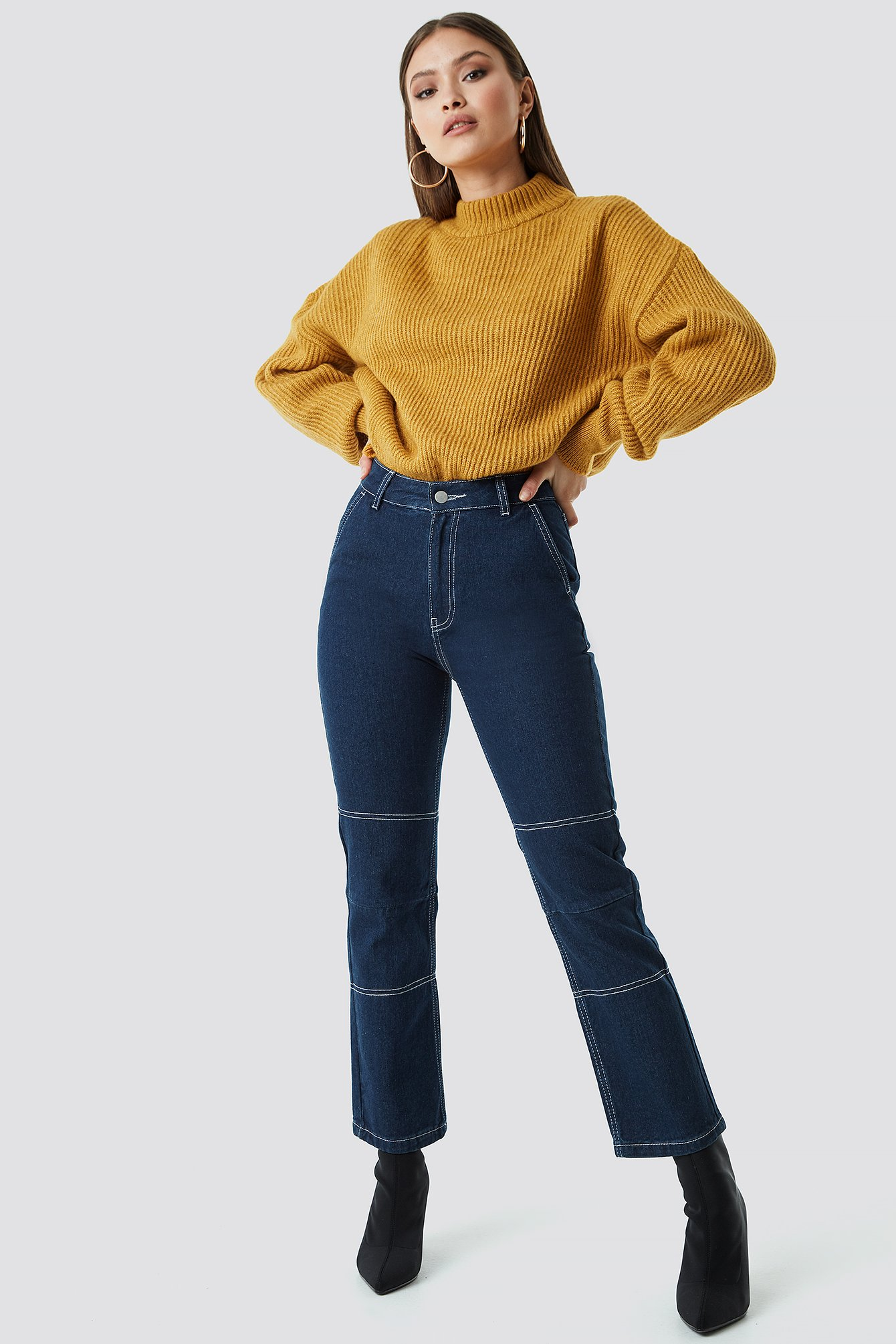 Straight Cropped Jeans NA-KDLOUNGE.DE