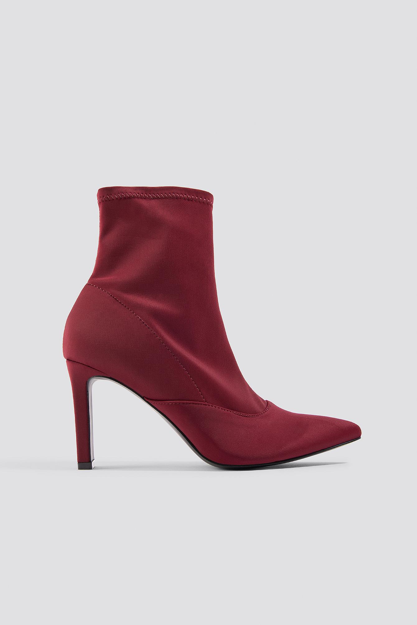 Rectangular Heel Satin Boots NA-KDLOUNGE.DE