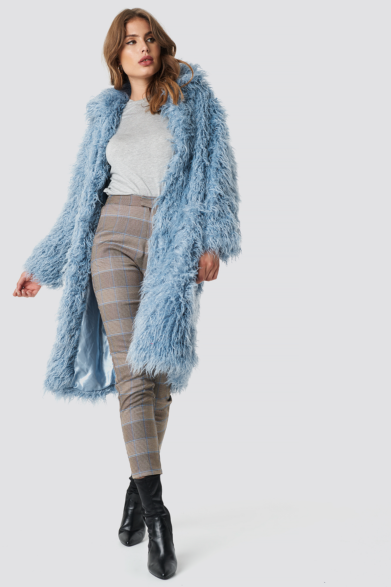 Faux Fur Long Jacket NA-KDLOUNGE.DE