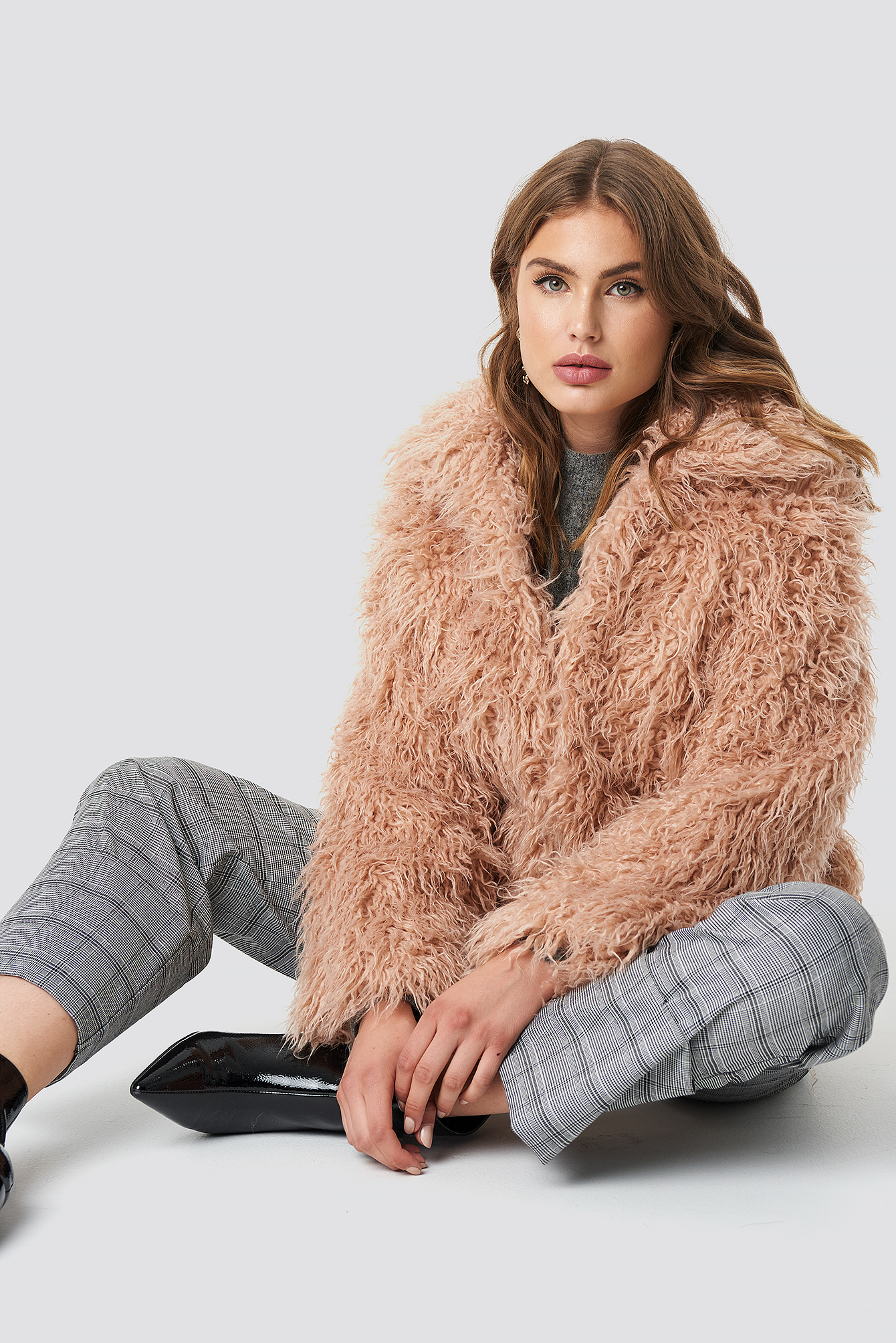 Faux Fur Short Jacket NA-KDLOUNGE.DE
