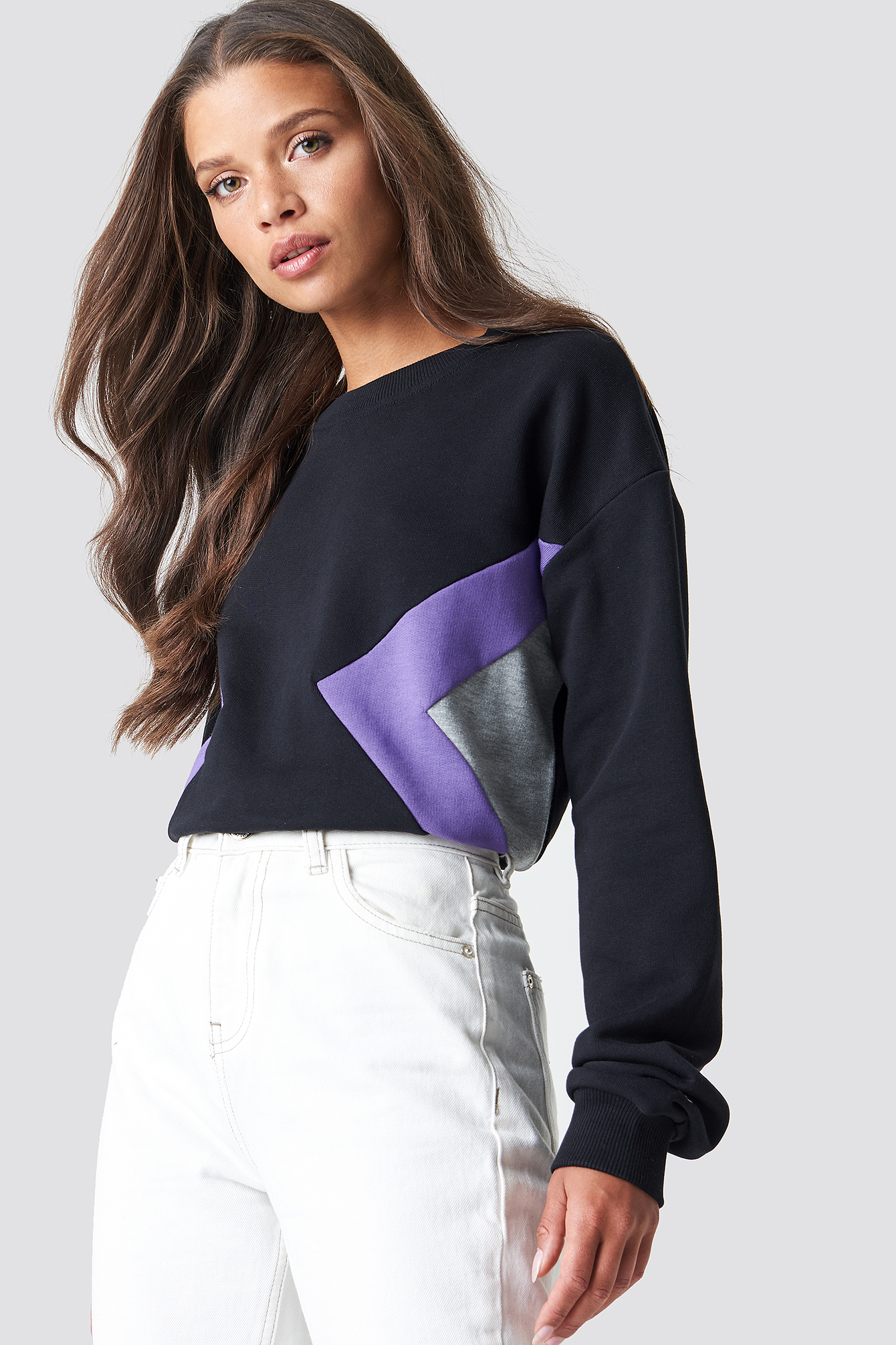 Blocked Side Sweatshirt NA-KDLOUNGE.DE