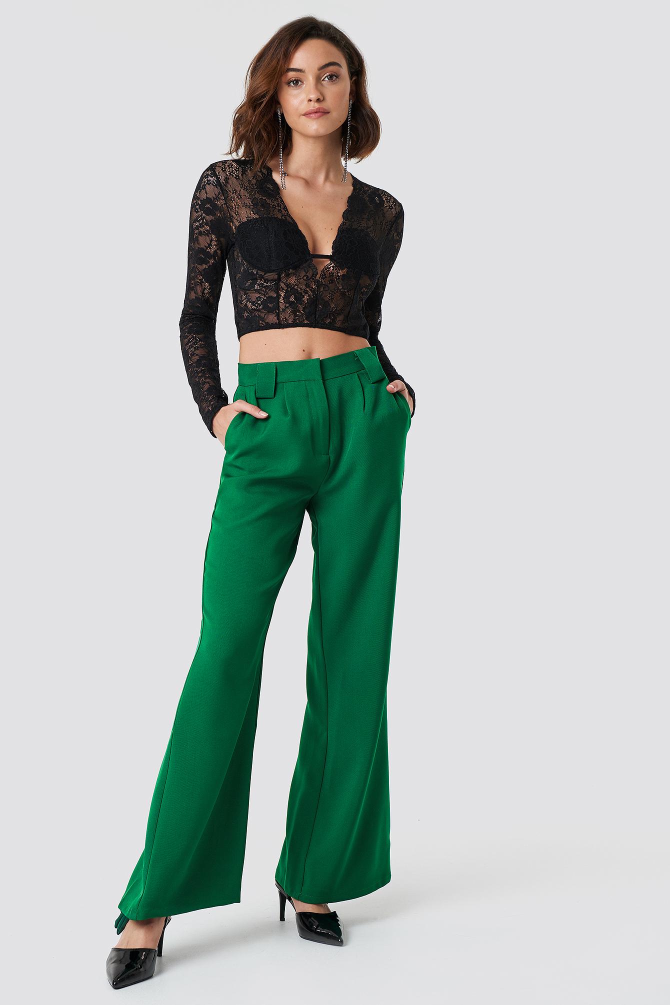 High Waisted Flared Suit Pants NA-KDLOUNGE.DE