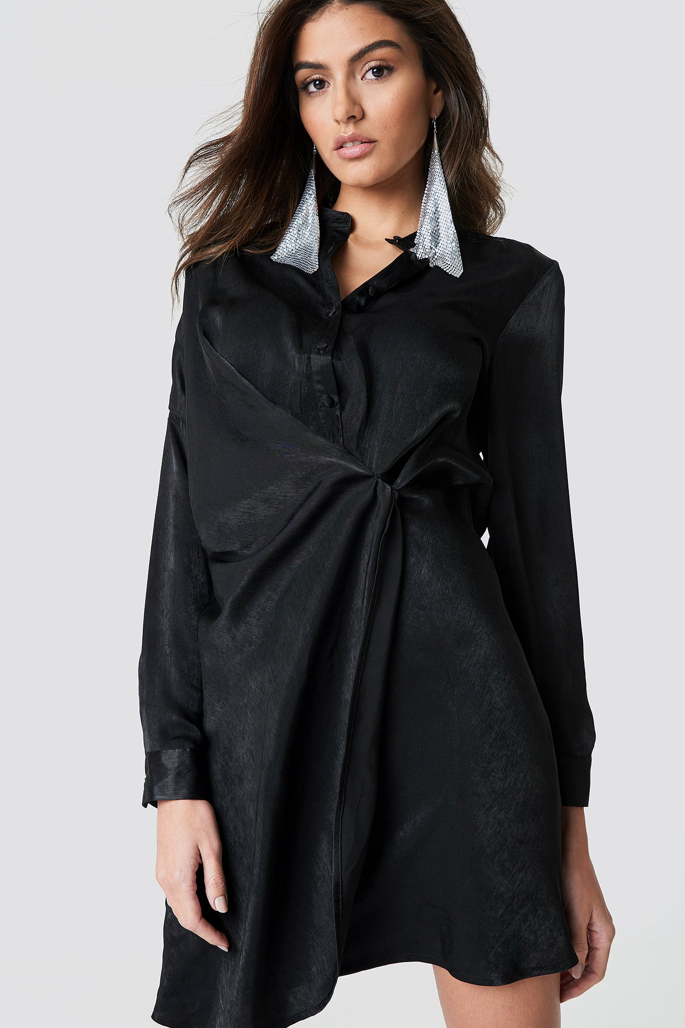 Draped Shirt Dress NA-KDLOUNGE.DE