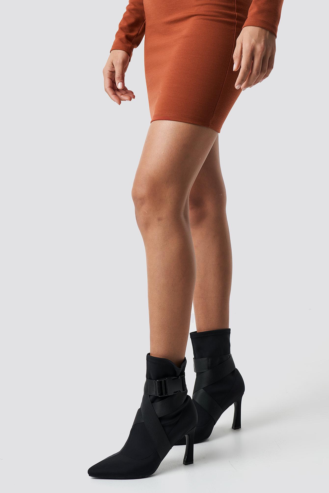 High Heel Belted Boots NA-KDLOUNGE.DE