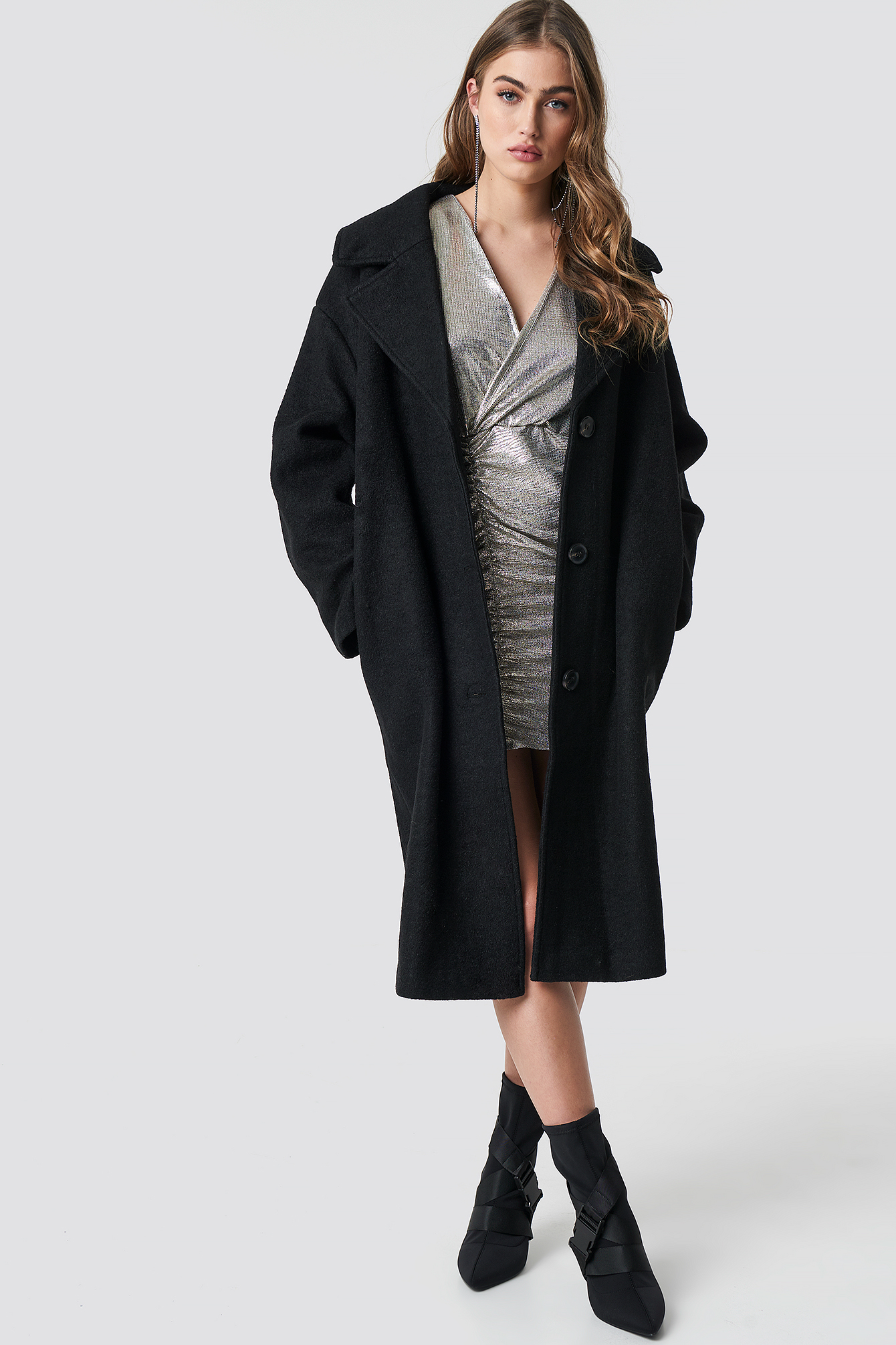 Oversized Wool Blend Coat NA-KDLOUNGE.DE