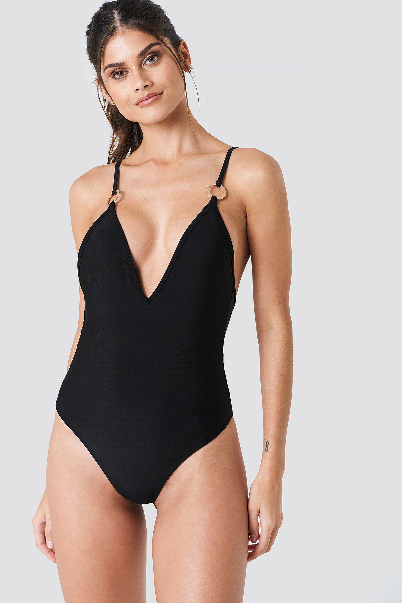 Deep Neck Swimsuit NA-KDLOUNGE.DE