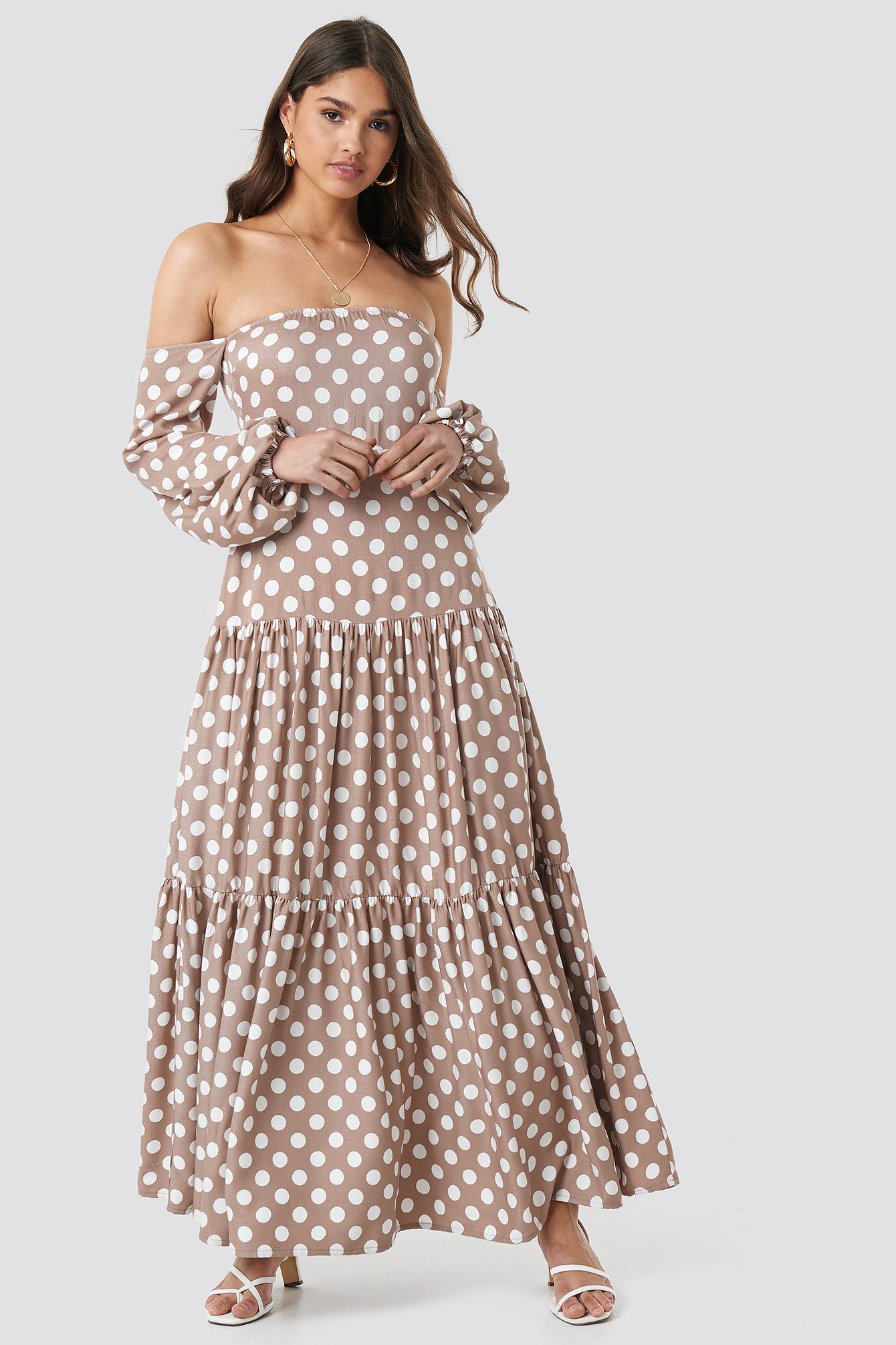 Polka Dot Maxi Dress NA-KDLOUNGE.DE