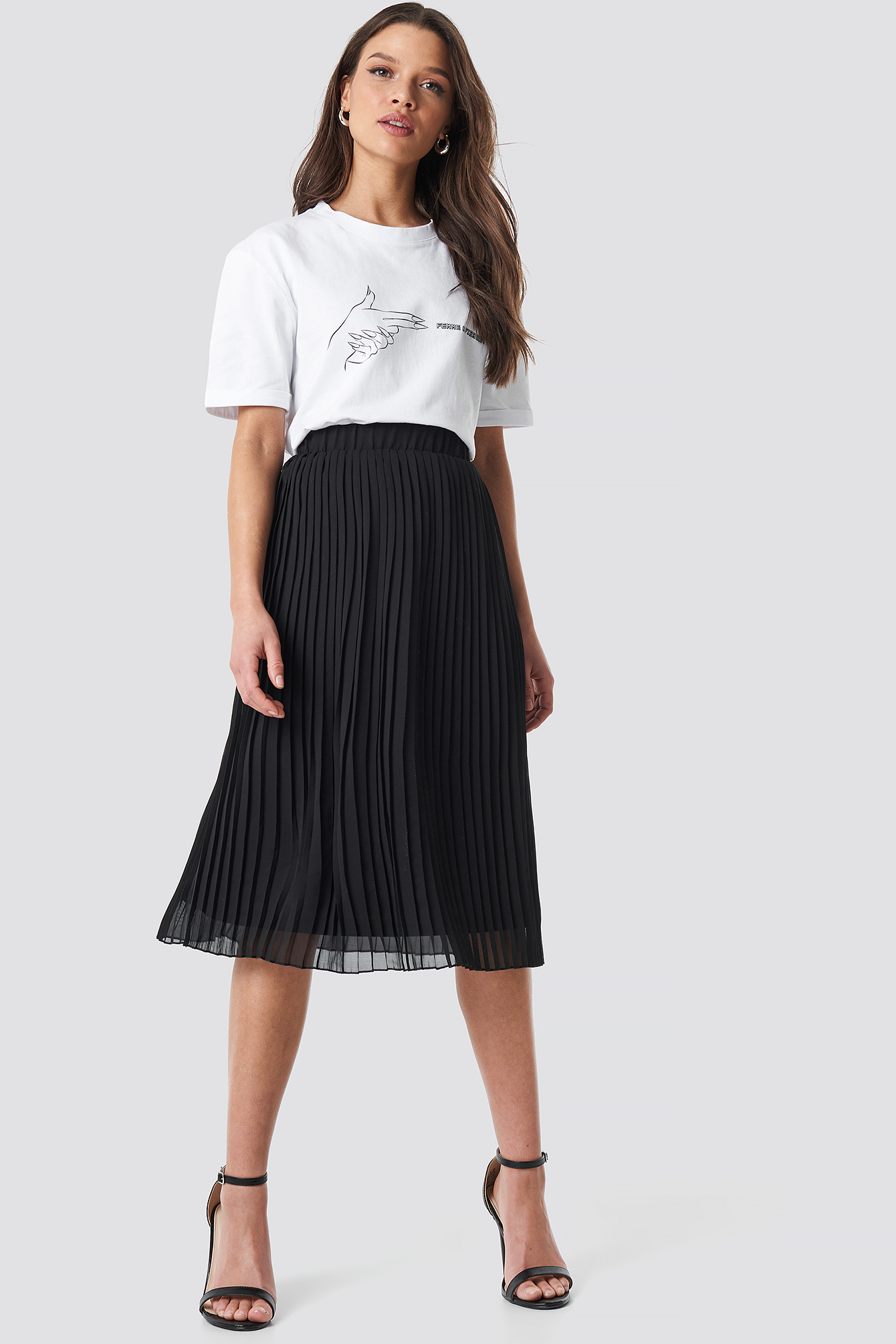 Pleated Midi Skirt NA-KDLOUNGE.DE