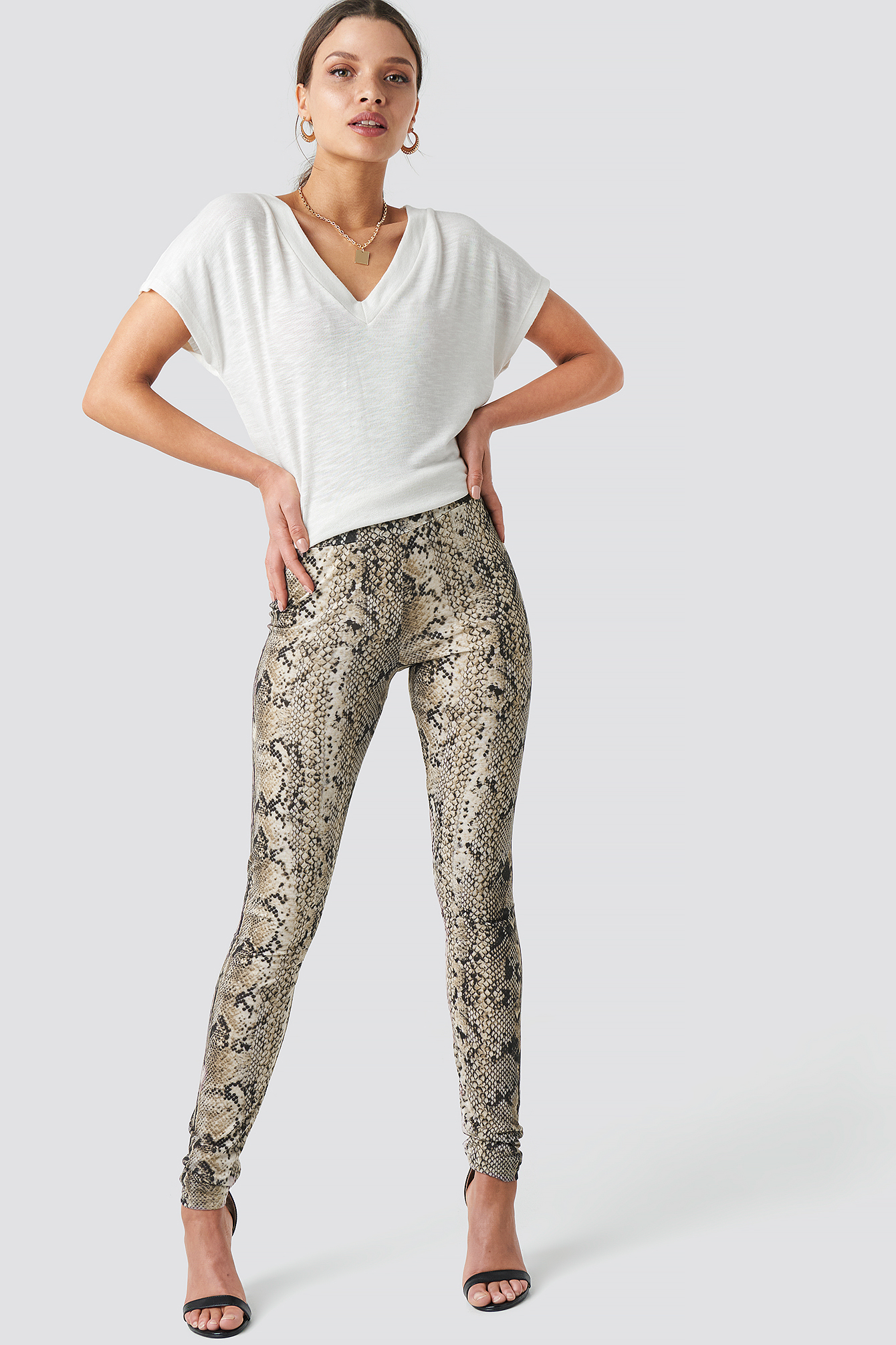 Animal Printed Leggings NA-KDLOUNGE.DE