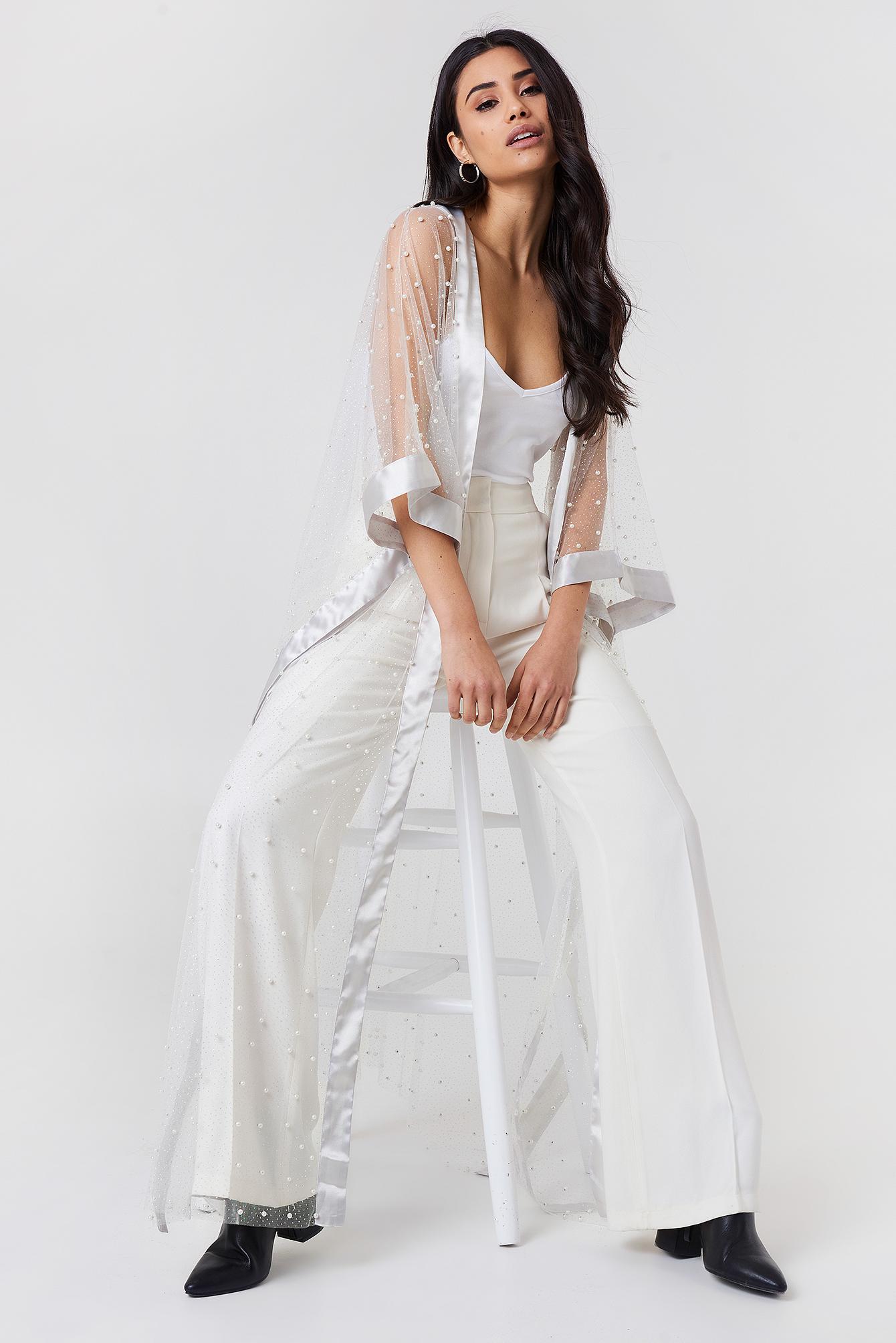 Beaded Glitter Kimono NA-KDLOUNGE.DE