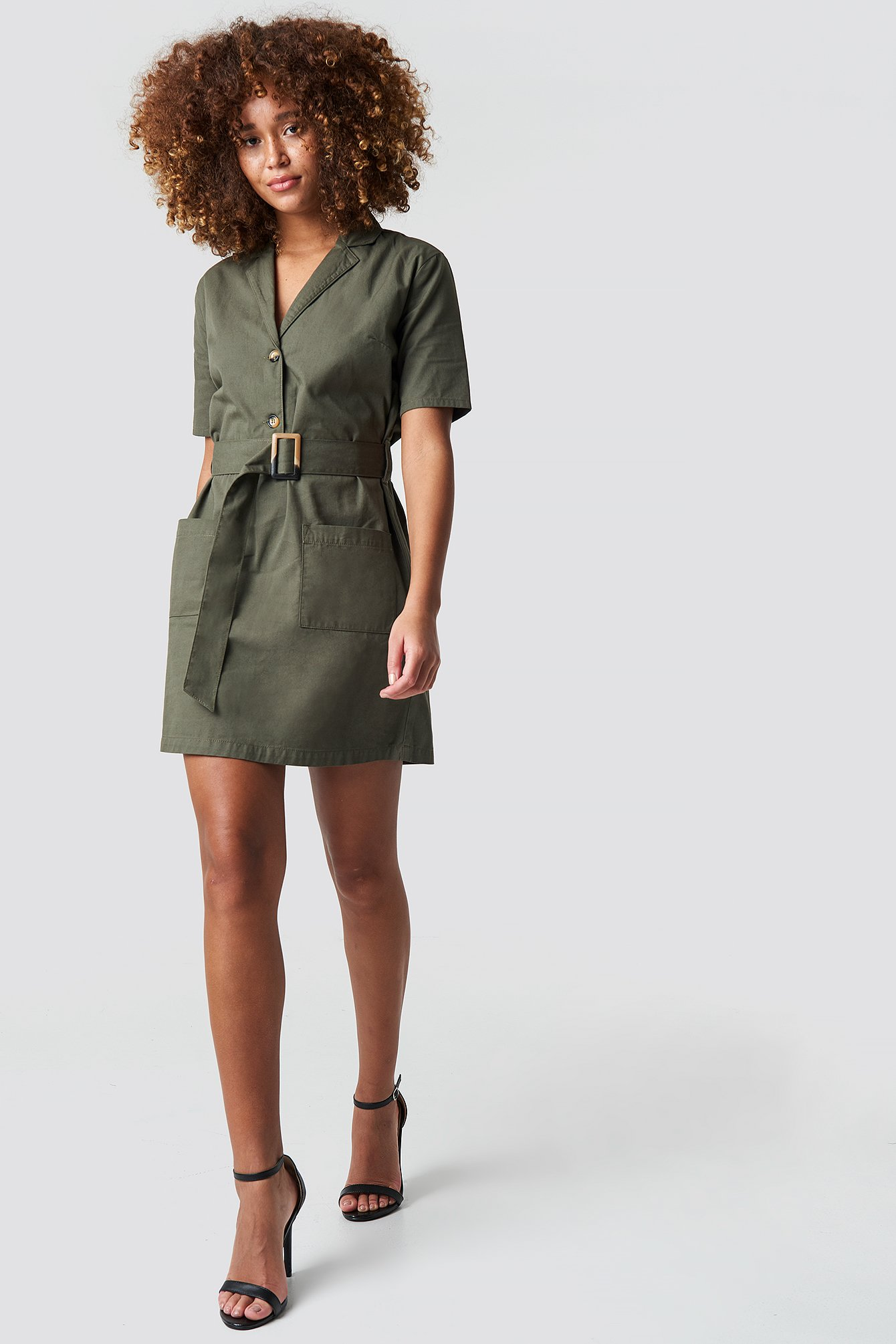 Belted Cargo Mini Dress NA-KDLOUNGE.DE