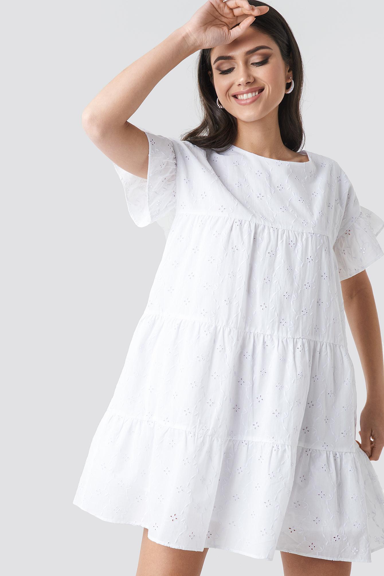 Broiderie Anglais Mini Dress NA-KDLOUNGE.DE