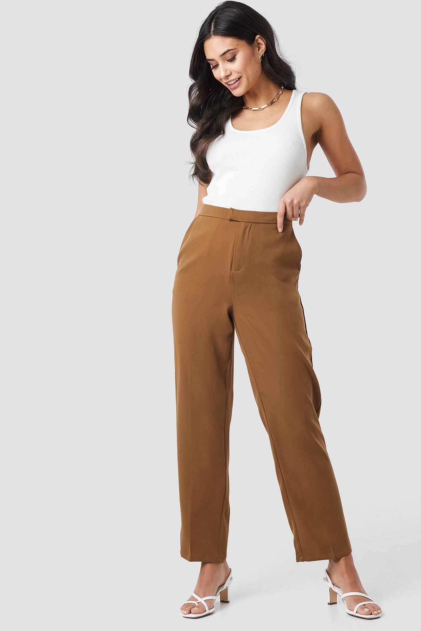 Creased Straight Suit Pants NA-KDLOUNGE.DE