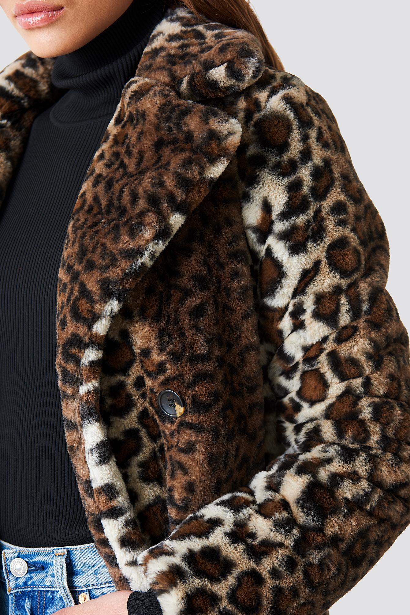 Faux Fur Leo Coat NA-KDLOUNGE.DE