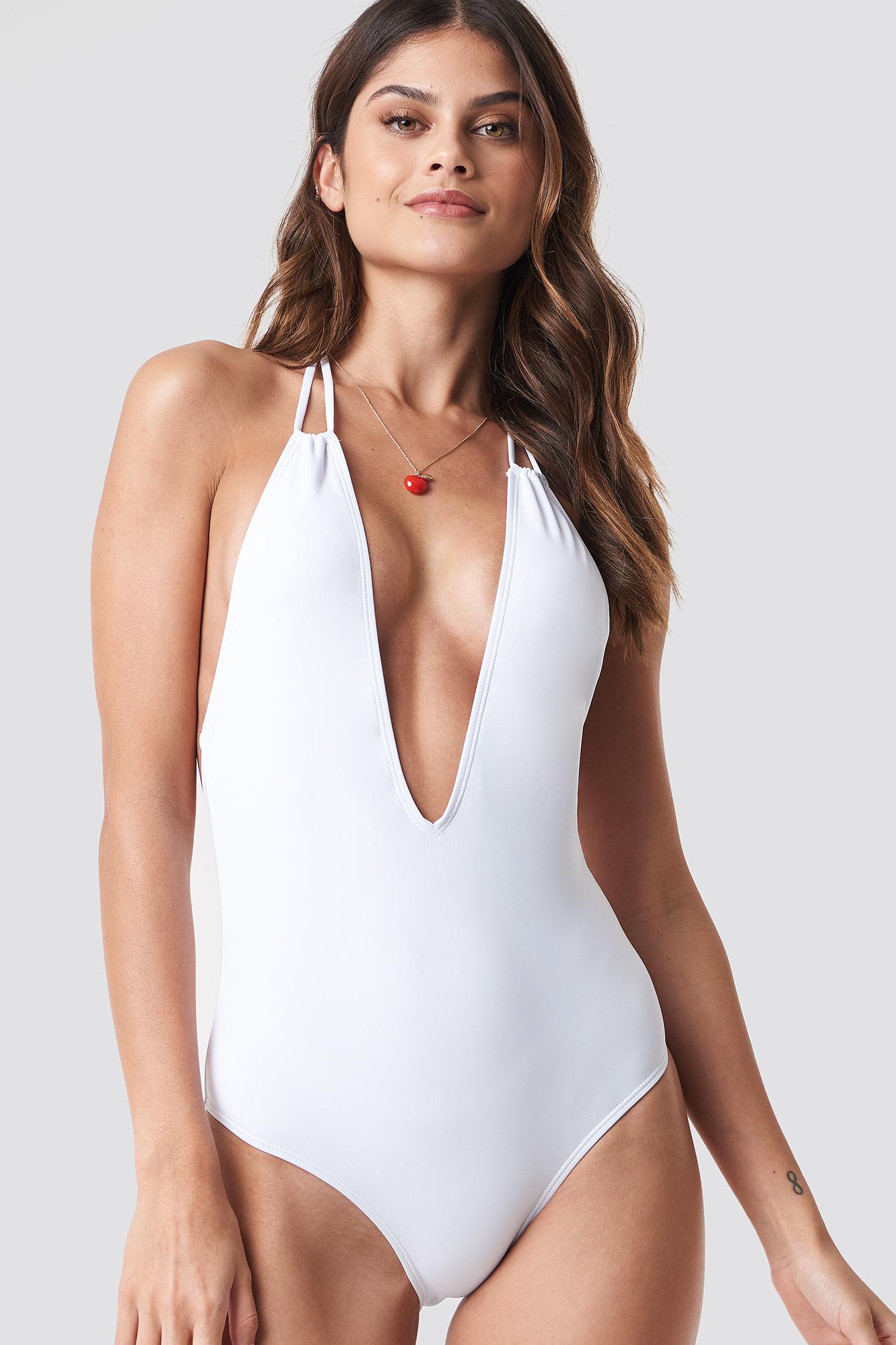 Halterneck Plunge Swimsuit NA-KDLOUNGE.DE