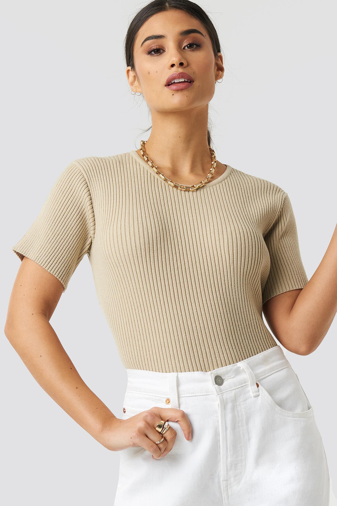 Hudson Rib Knitted Tee NA-KDLOUNGE.DE