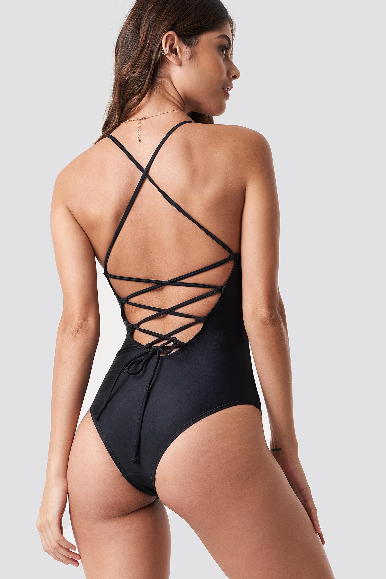 Lacing Back Swimsuit NA-KDLOUNGE.DE