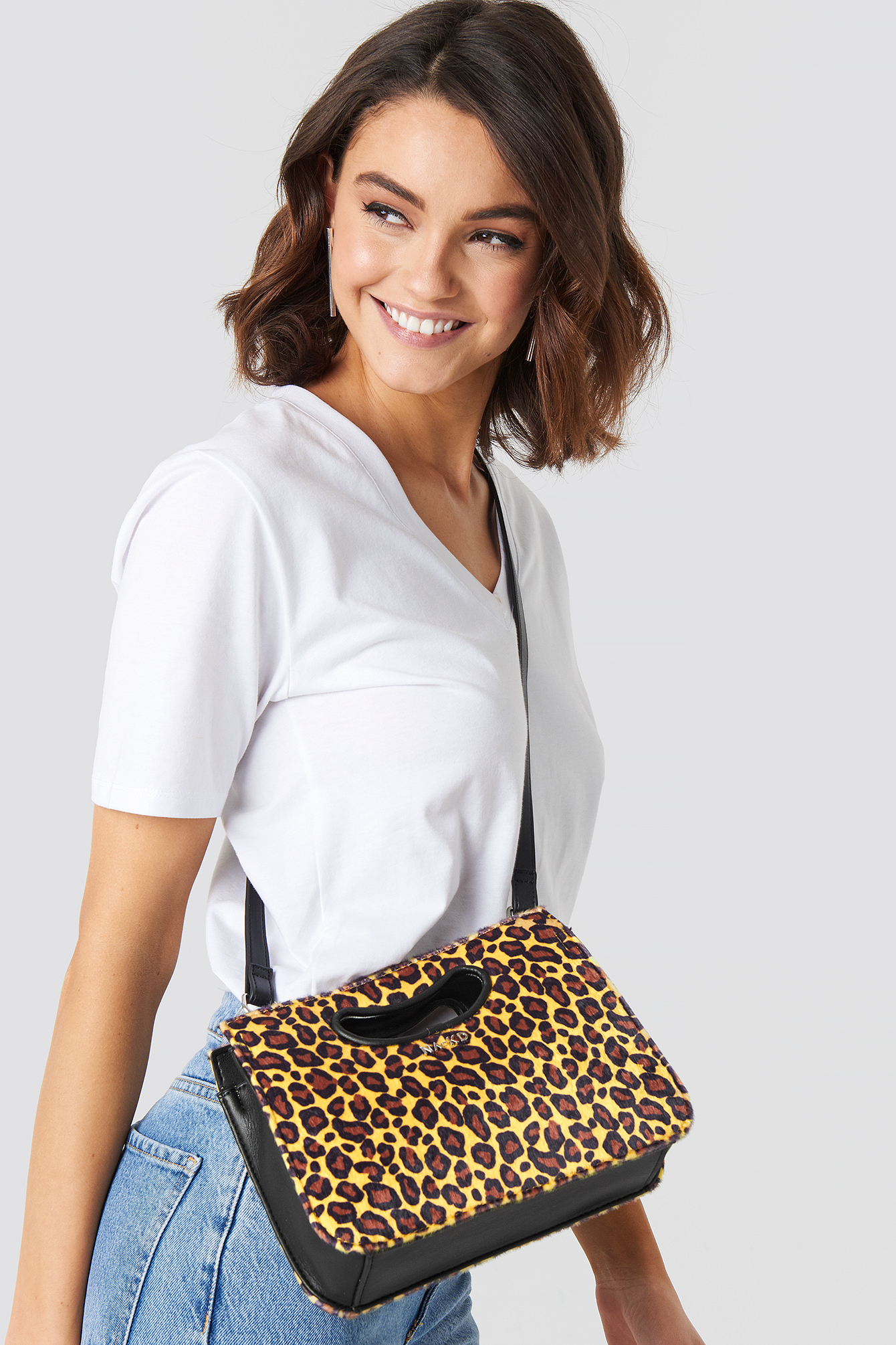 Leopard Mini Tote Cut-Out Handle NA-KDLOUNGE.DE