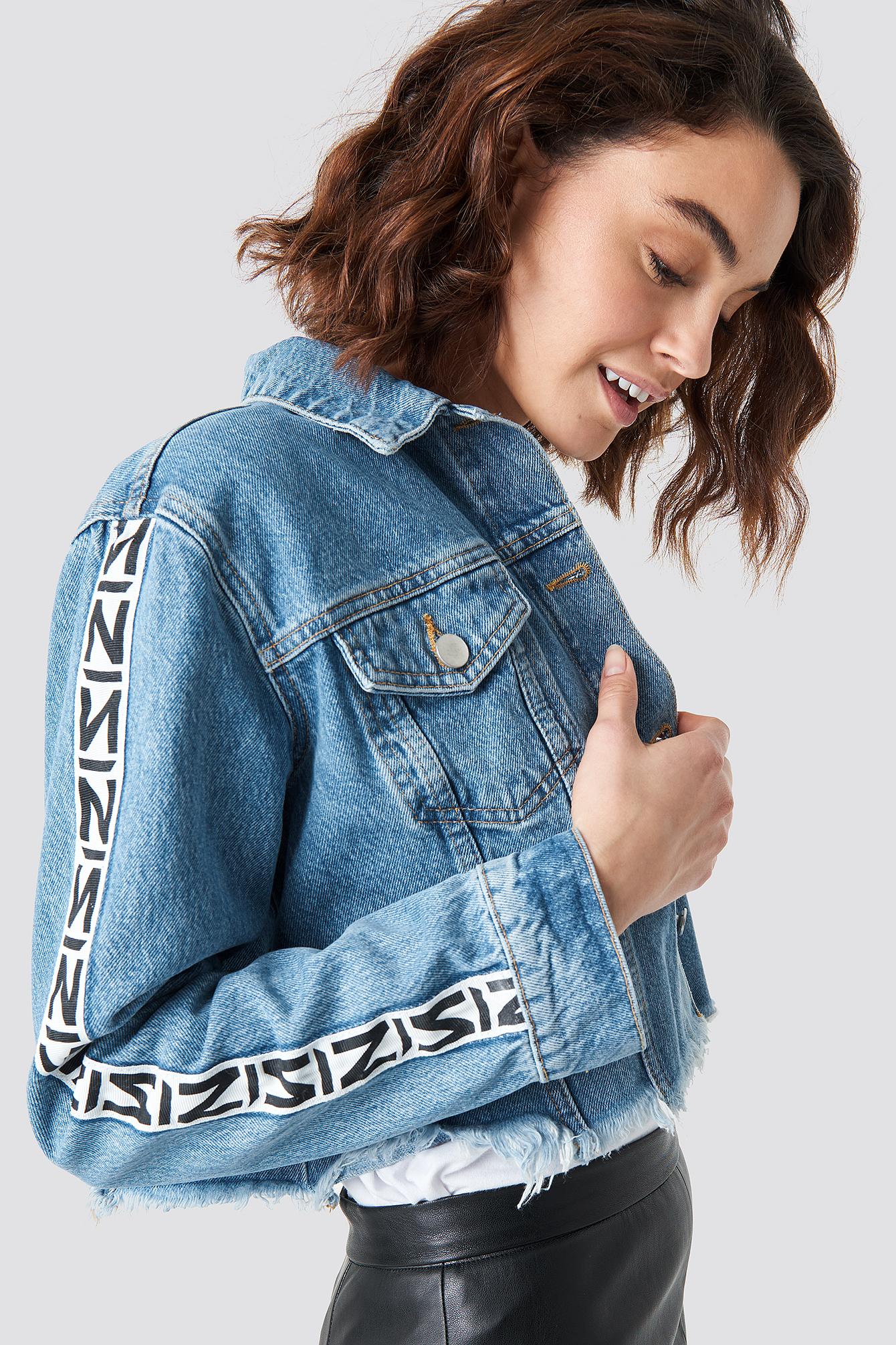 N Branded Denim Jacket NA-KDLOUNGE.DE