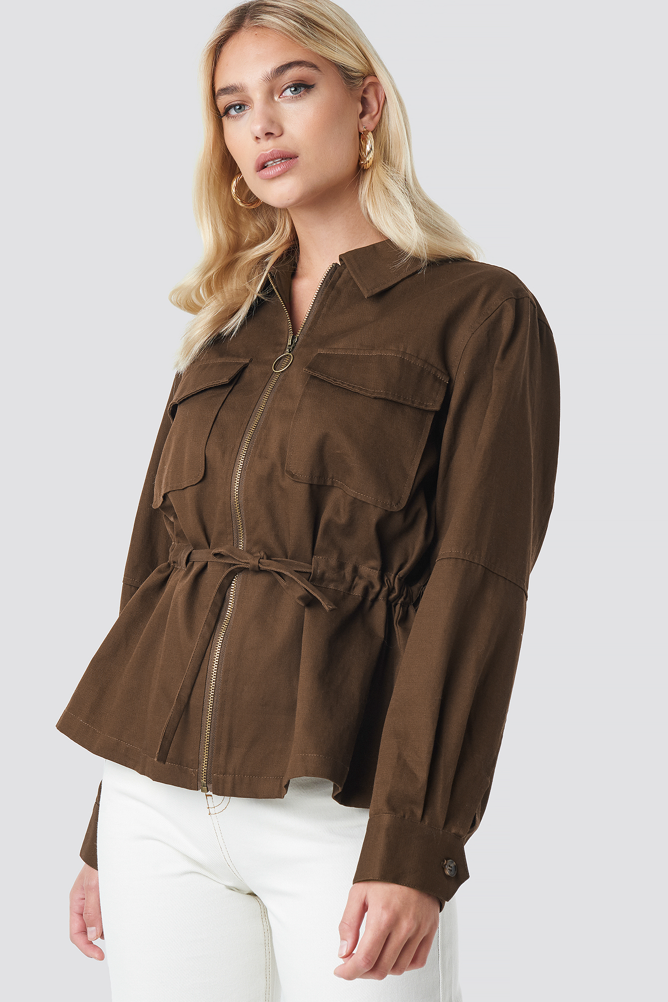 Short Oversized Marked Waist Jacket NA-KDLOUNGE.DE