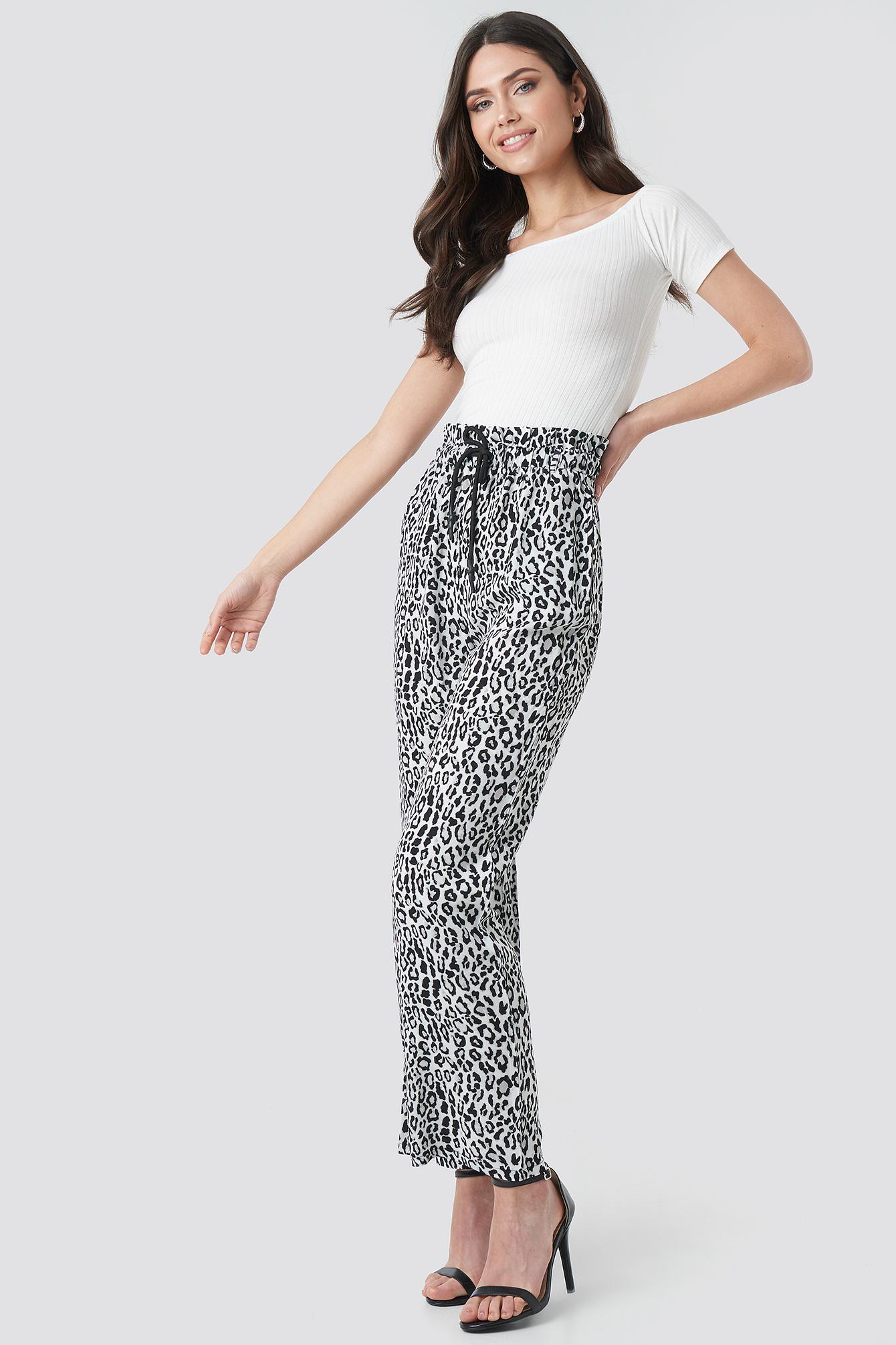 Paperbag Wide Leg Trousers NA-KDLOUNGE.DE