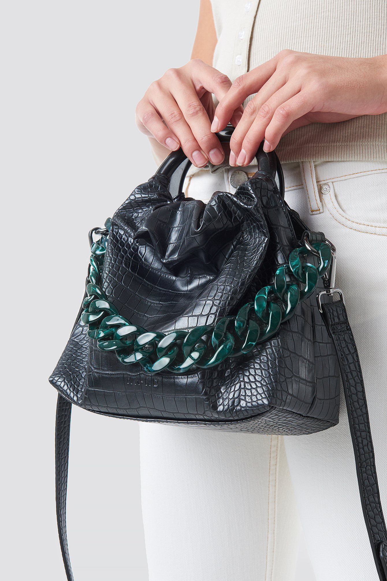 Pop Chain Bucket Bag NA-KDLOUNGE.DE