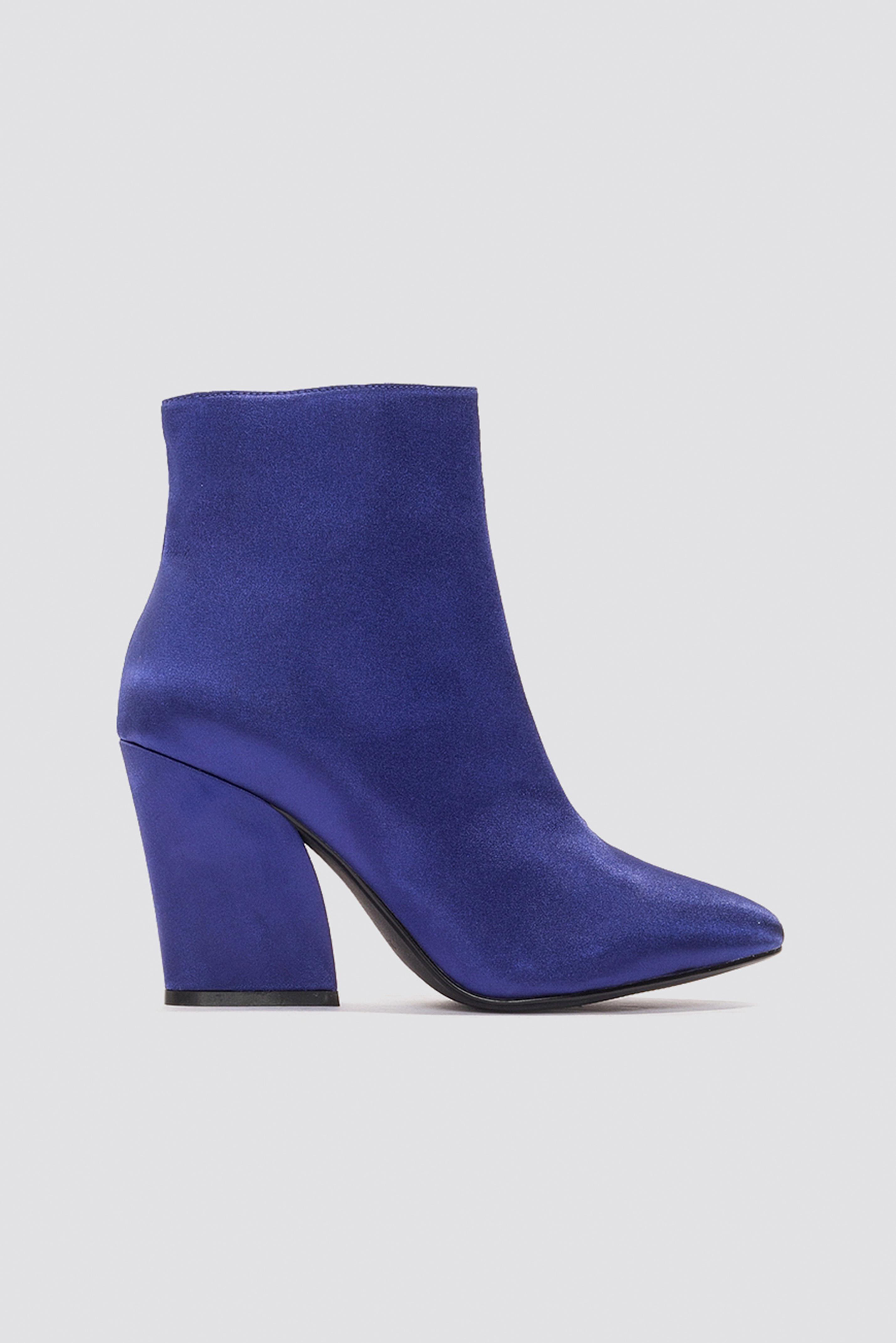 Satin Mid Heel Boots NA-KDLOUNGE.DE