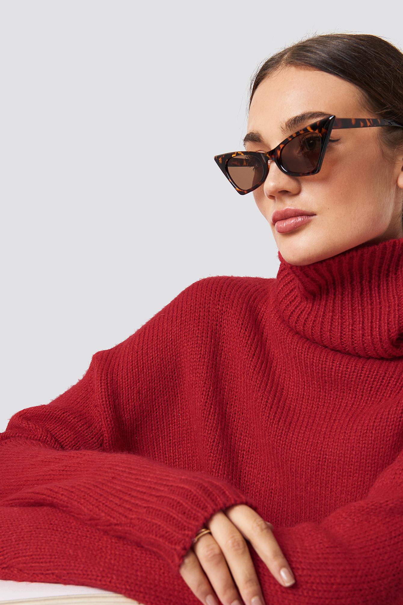 Sharp Top Cat Eye Sunglasses NA-KDLOUNGE.DE
