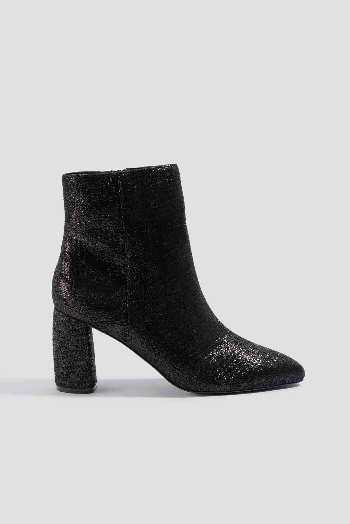 Shimmery Structured Boots NA-KDLOUNGE.DE