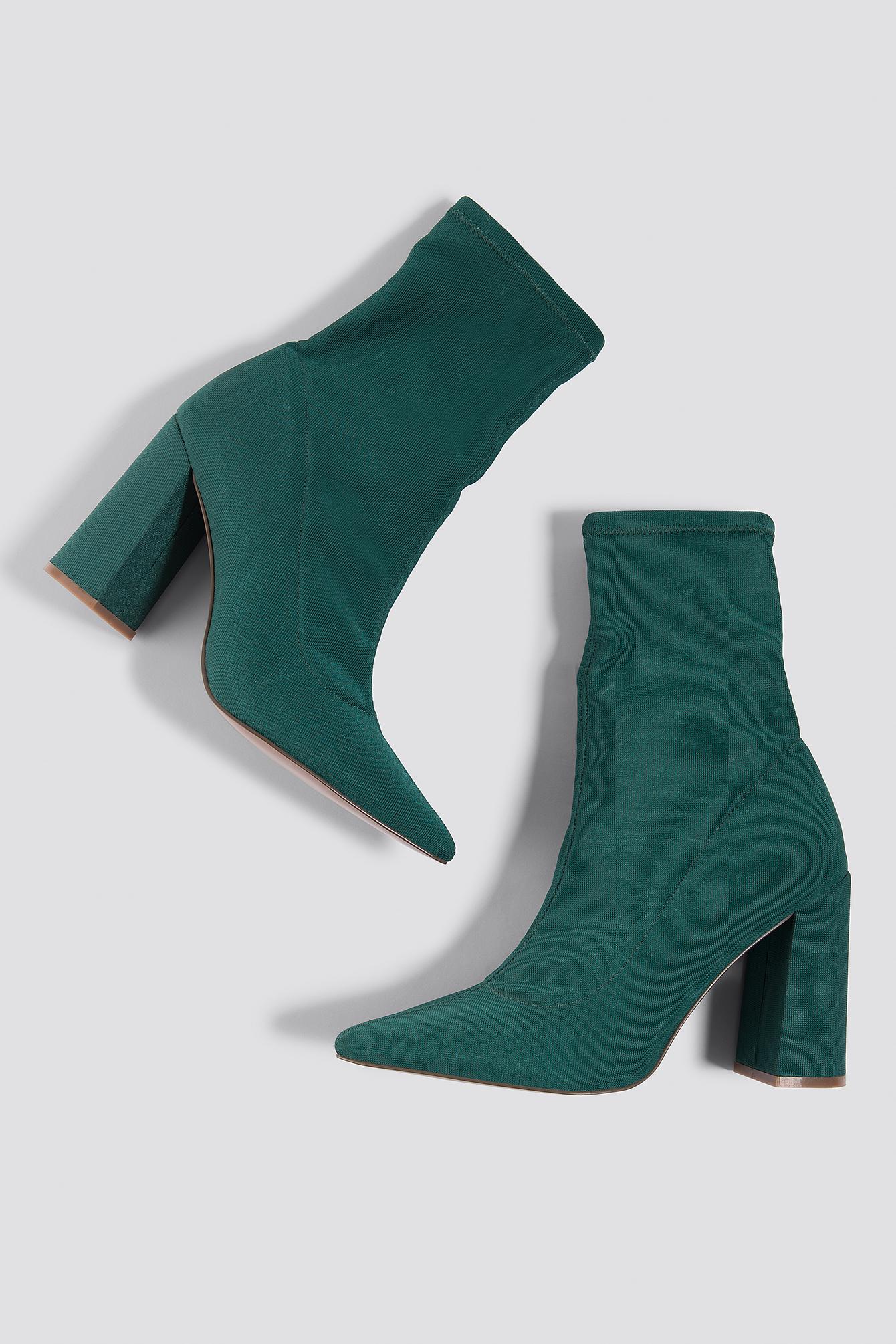 Slanted Heel Sock Boots NA-KDLOUNGE.DE