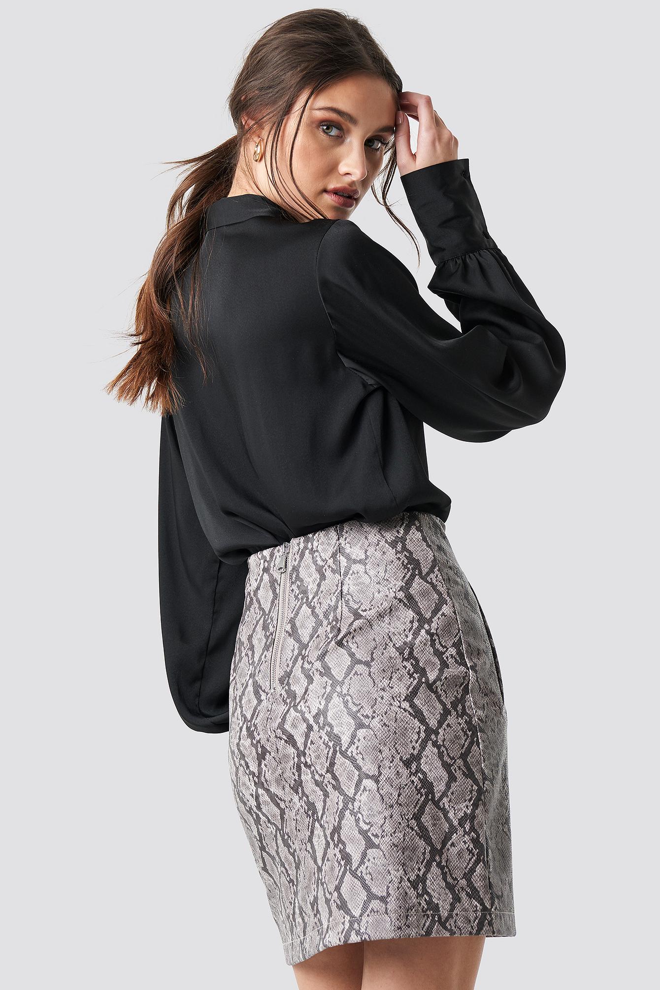 Snake Print Mini Skirt NA-KDLOUNGE.DE