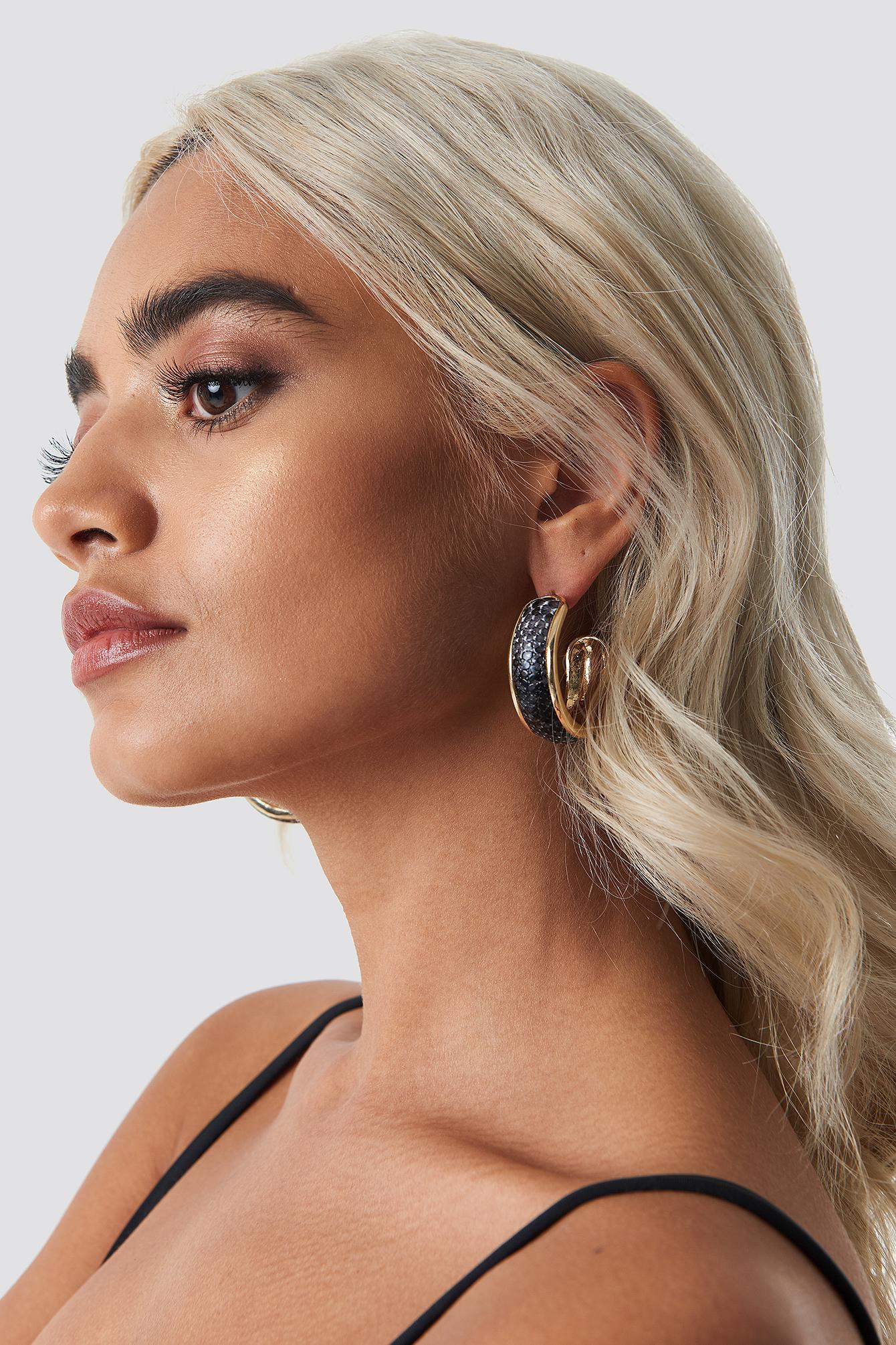 Snake PU Hoop Earrings NA-KDLOUNGE.DE
