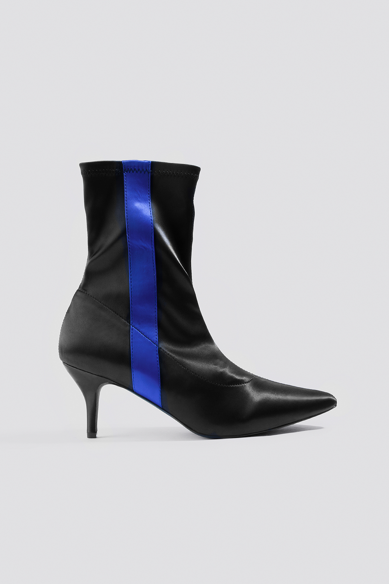 Striped Satin Sock Boots NA-KDLOUNGE.DE