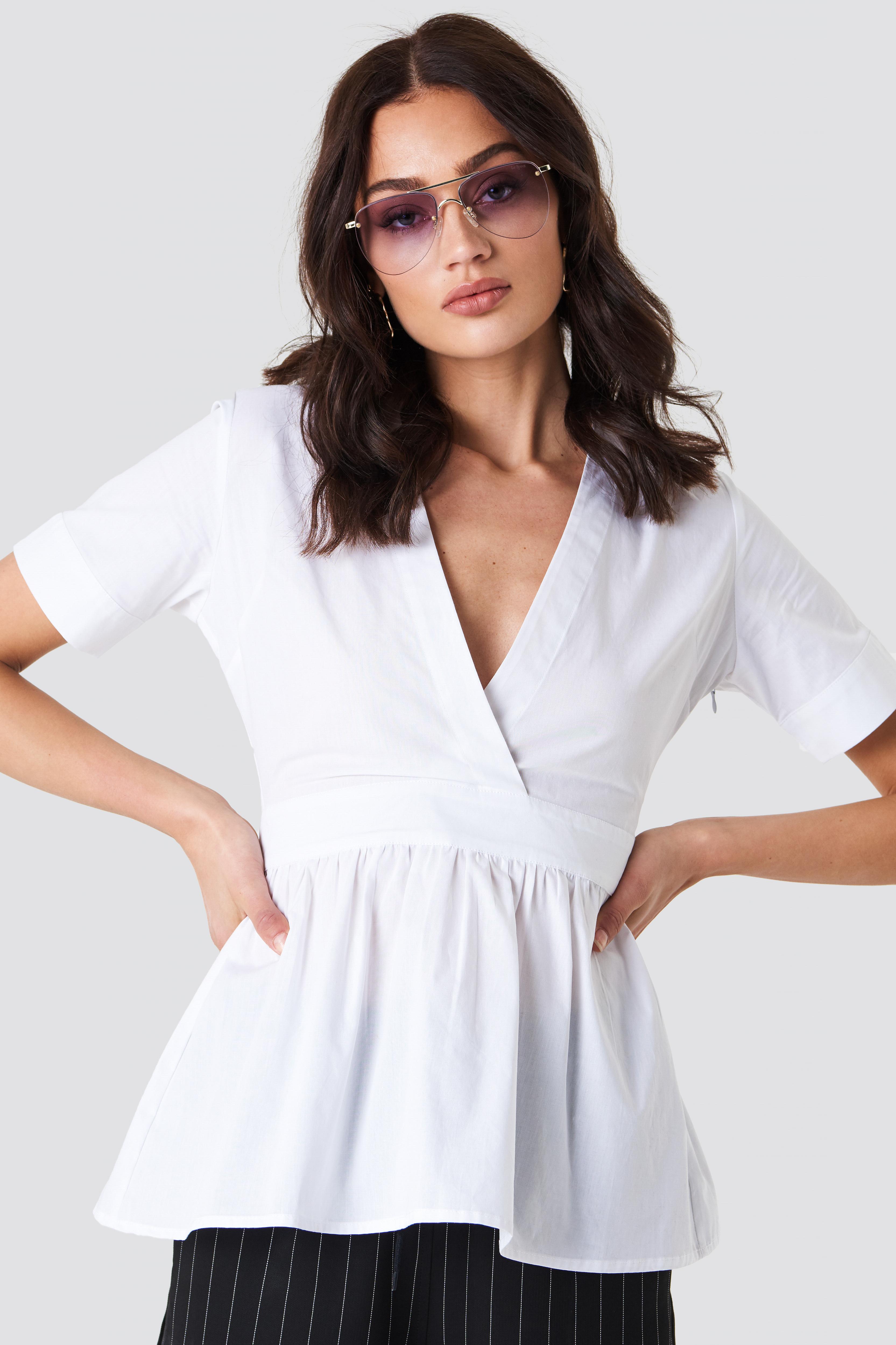 V-Neck Short Sleeve Shirt NA-KDLOUNGE.DE