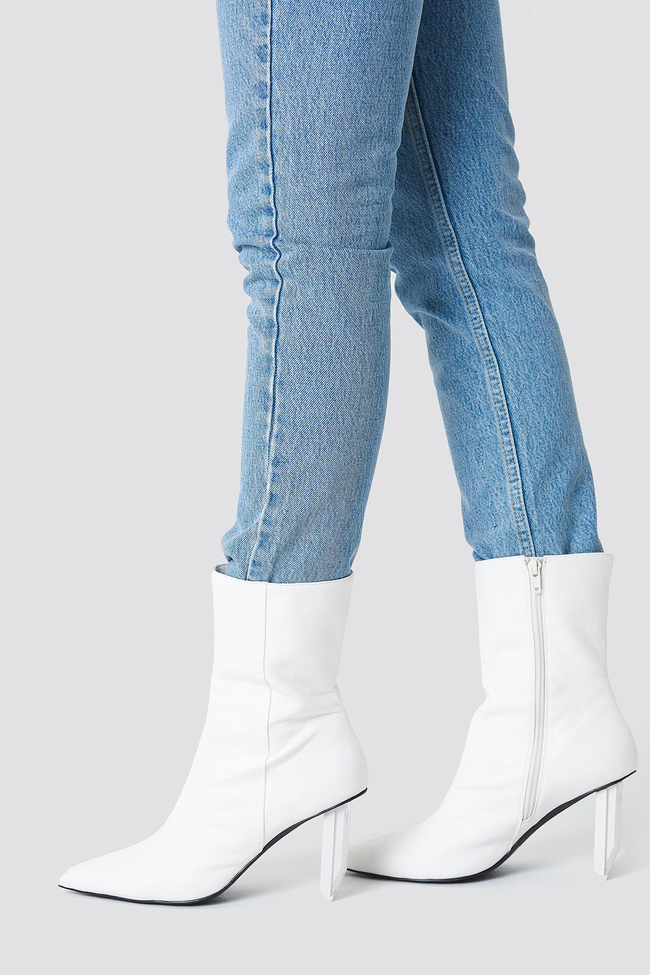 Asymmetric Heel Boots NA-KDLOUNGE.DE