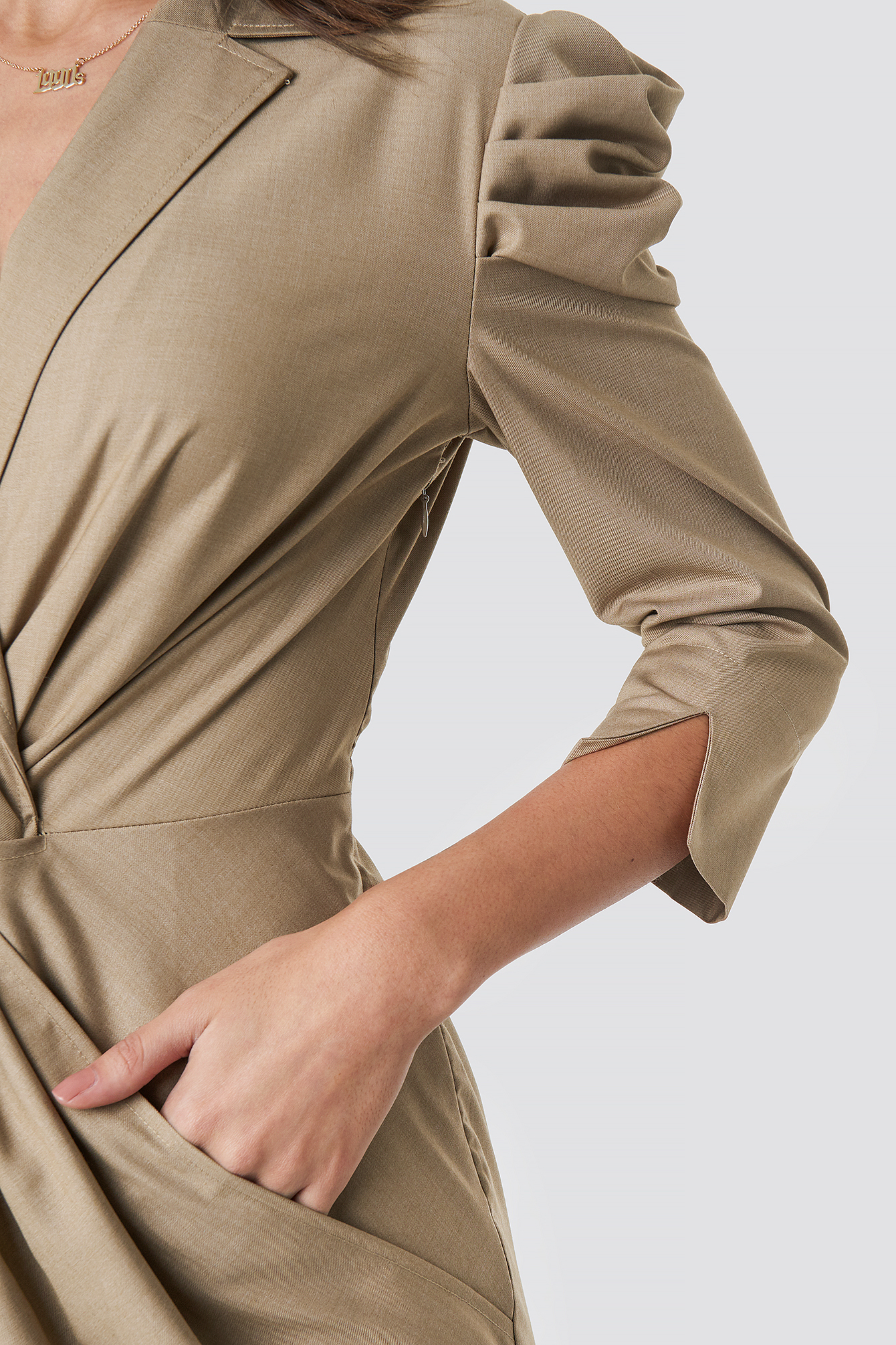 Front Knot Shirt Dress NA-KDLOUNGE.DE