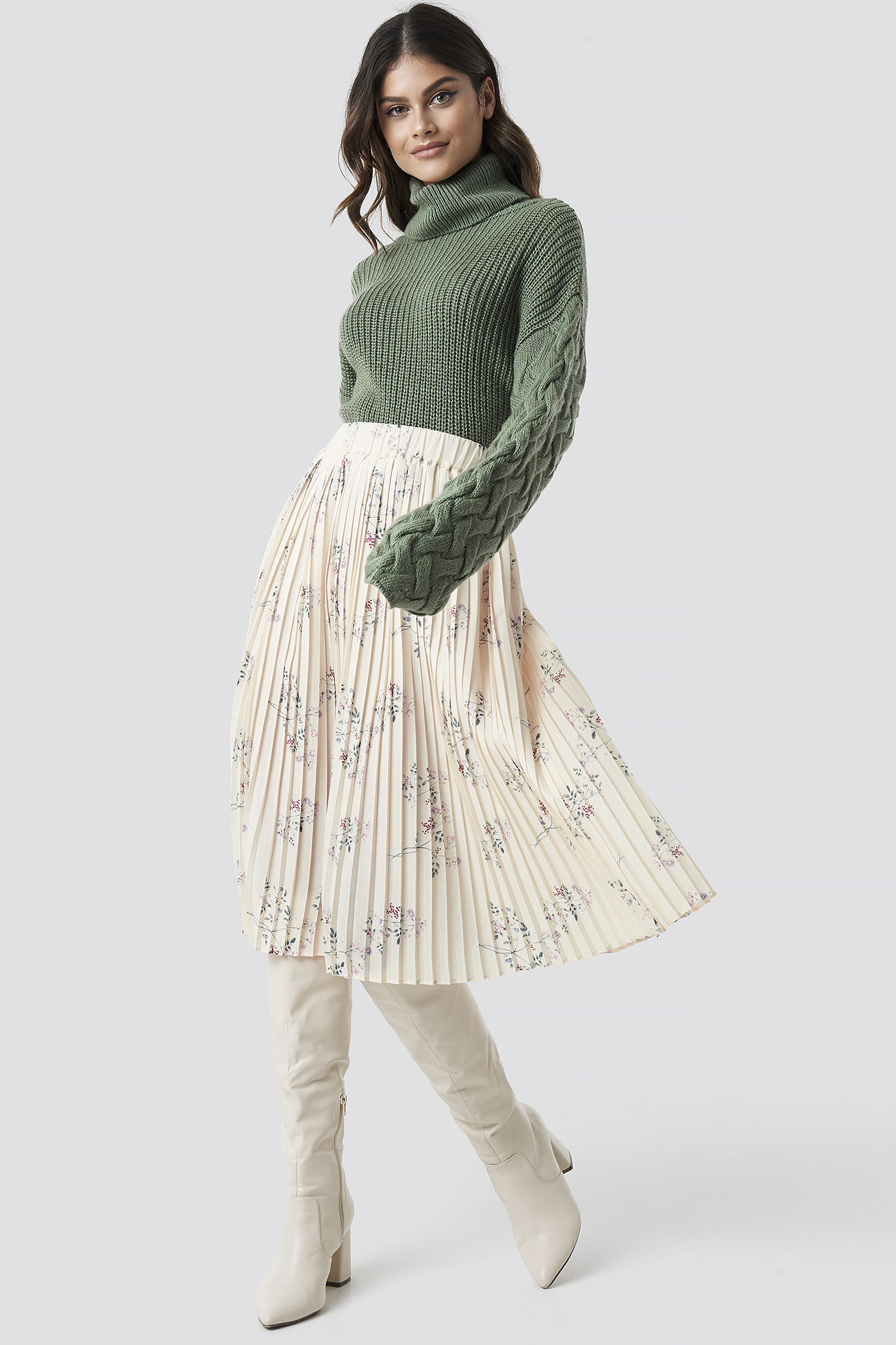 Pleated Garden Flower Skirt NA-KDLOUNGE.DE