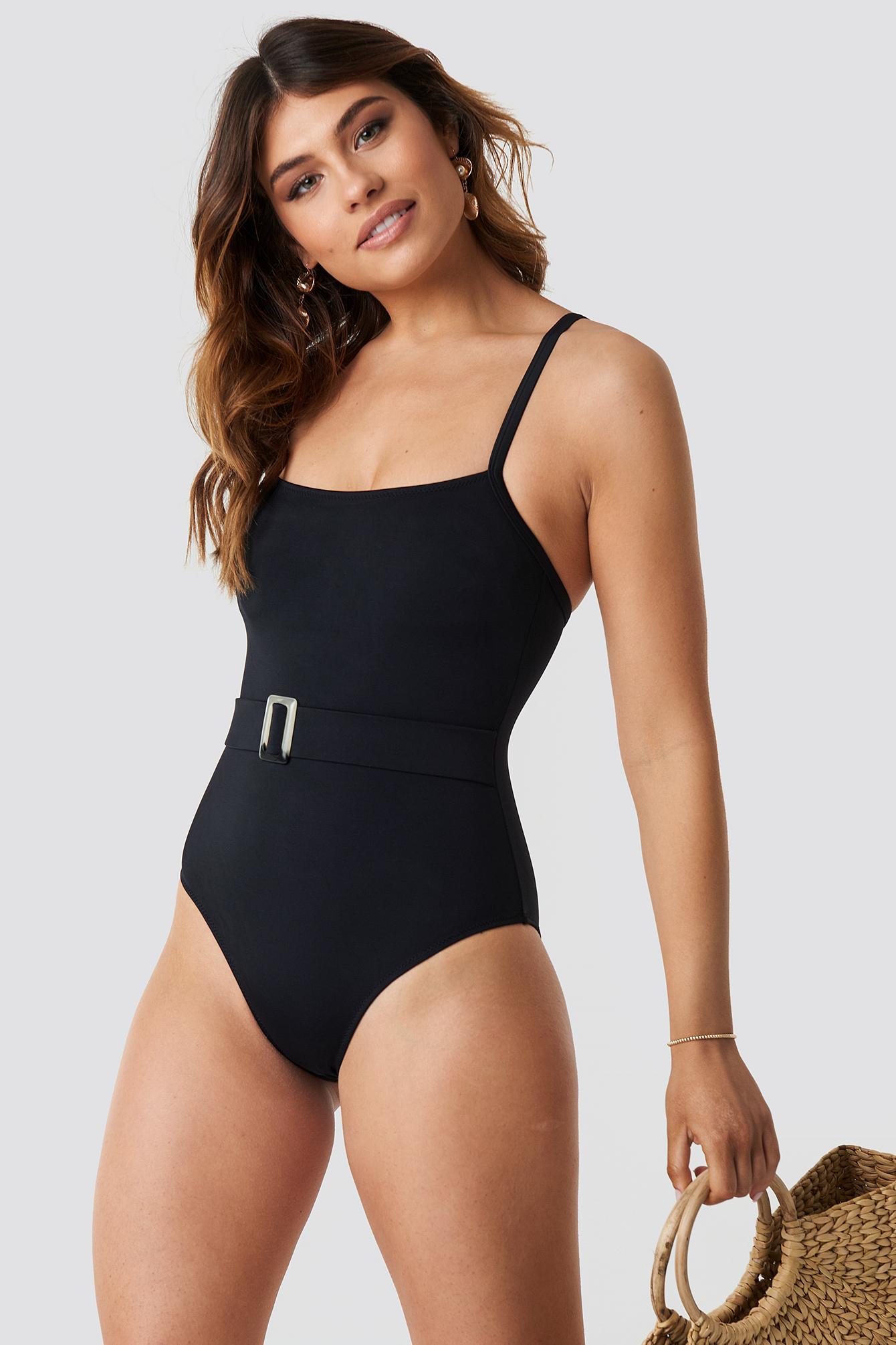 Belt Detailed Swimsuit NA-KDLOUNGE.DE
