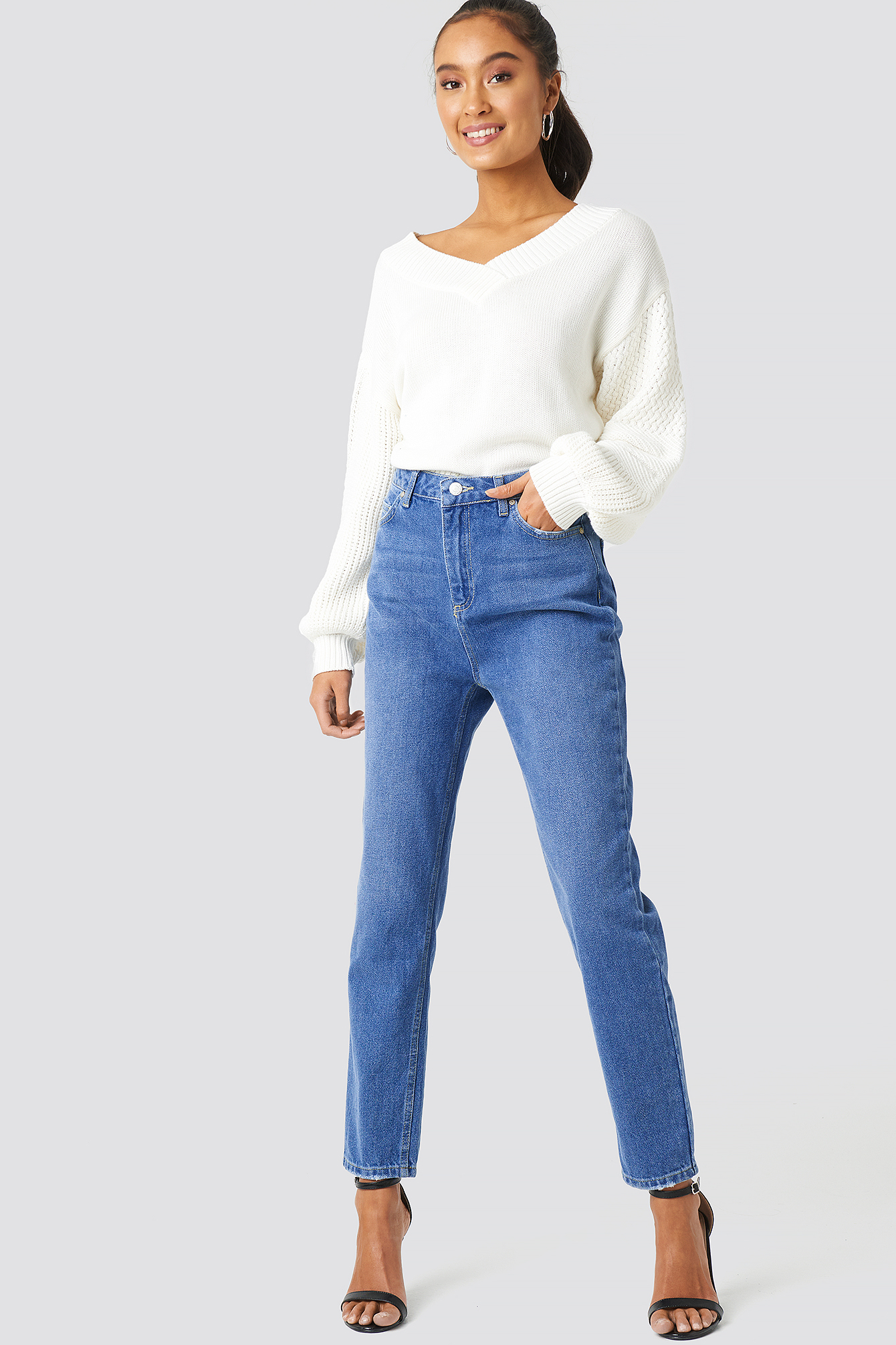 High Waist Mom Jeans NA-KDLOUNGE.DE