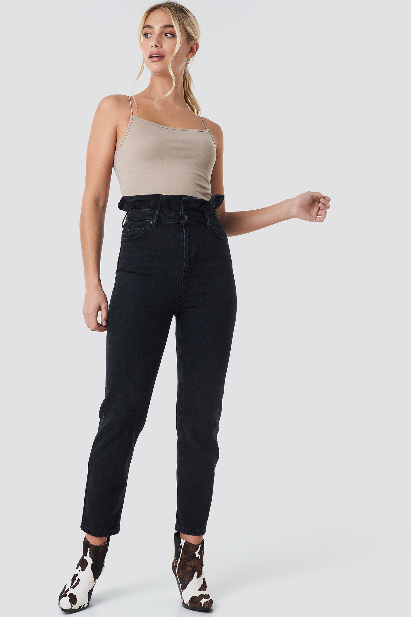 Shaper Detail High Waist Mom Jeans NA-KDLOUNGE.DE