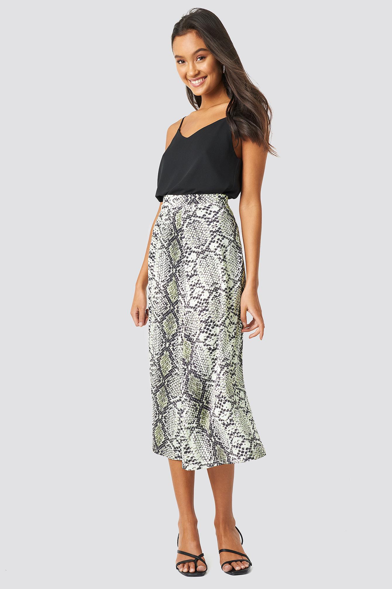 Snake Patterned Skirt NA-KDLOUNGE.DE